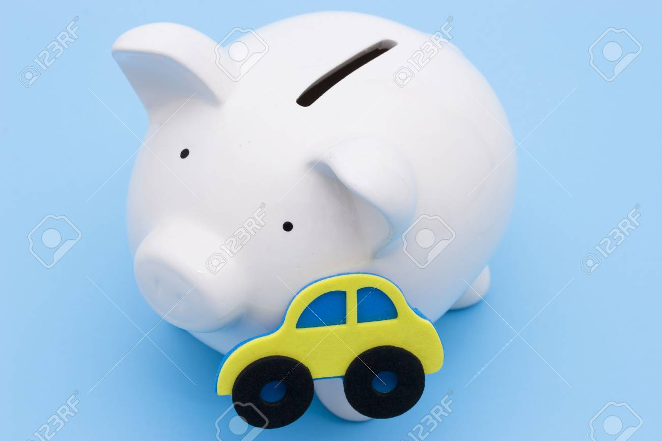 A piggy bank for the saving or loan for a car Stock Photo - 1352606