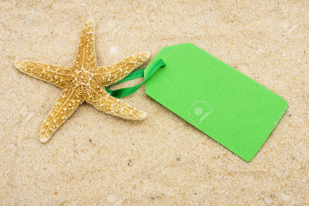 Sand For Sale >> Starfish With Blank Tag On Sand Vacation Sale