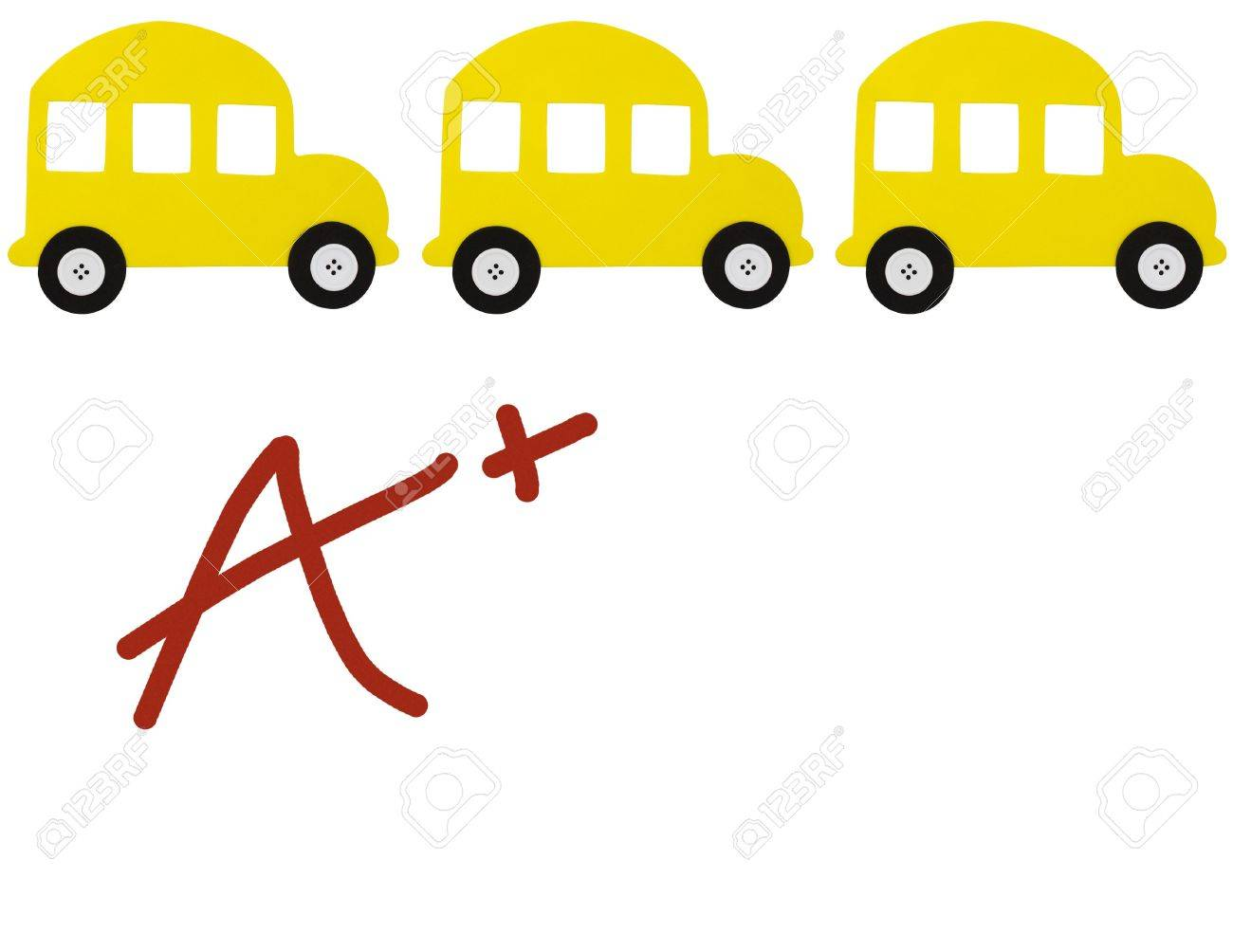 a school bus border an a grade isolated on a white a school bus border an a grade isolated on a white background good grades