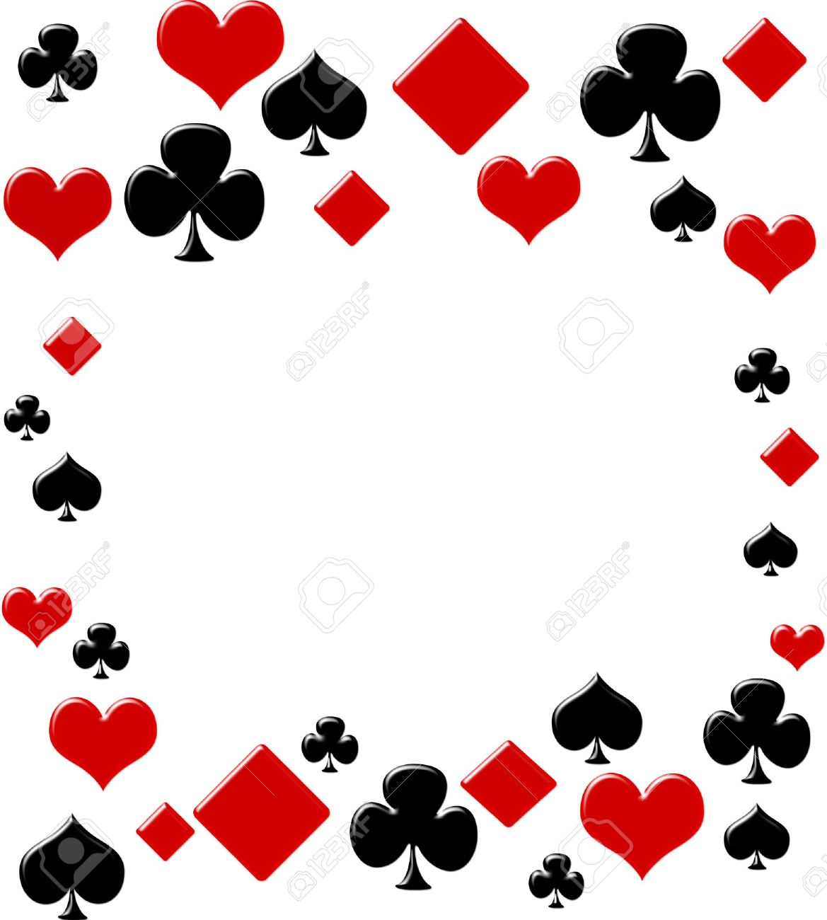 Poker Cards Hearts Heart Suit Four Card Suits