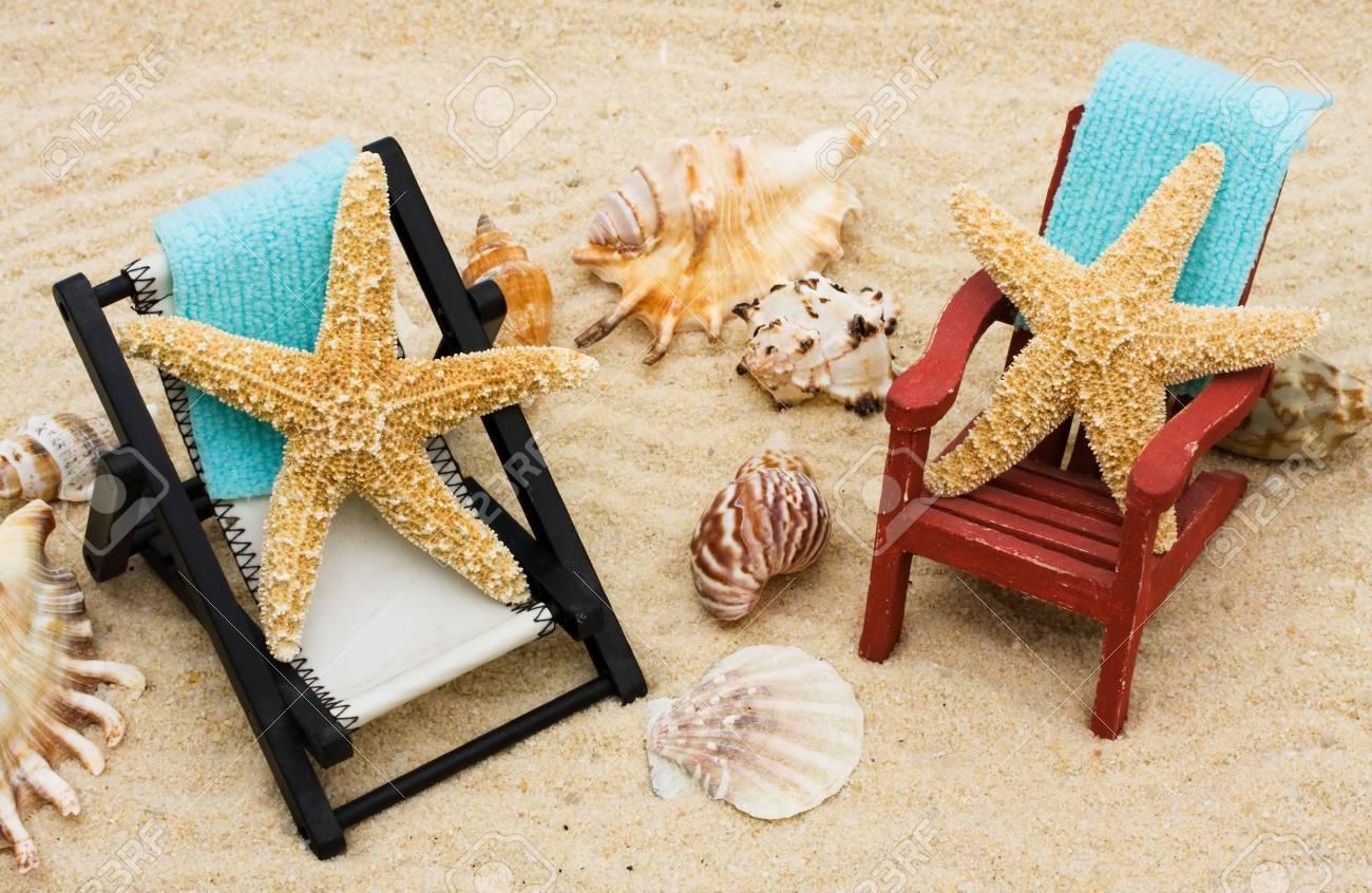 SableSe Une Détendre Un Mer Avec Fond Chaise Longue Des De Étoiles Sur Vacances En kXZuOPi