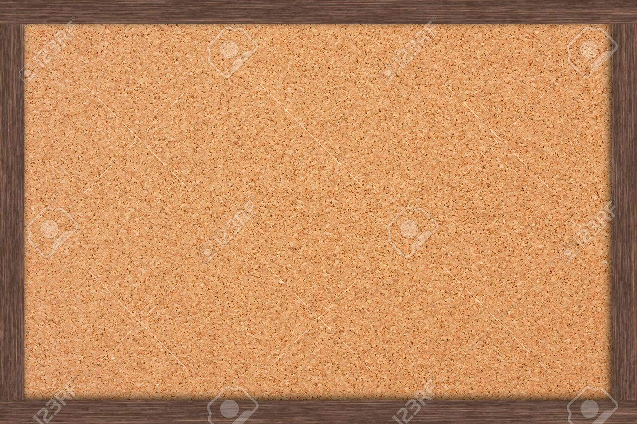 Cork Bulletin Board A Cork Bulletin Board With A Wooden Frame Bulletin Board Stock