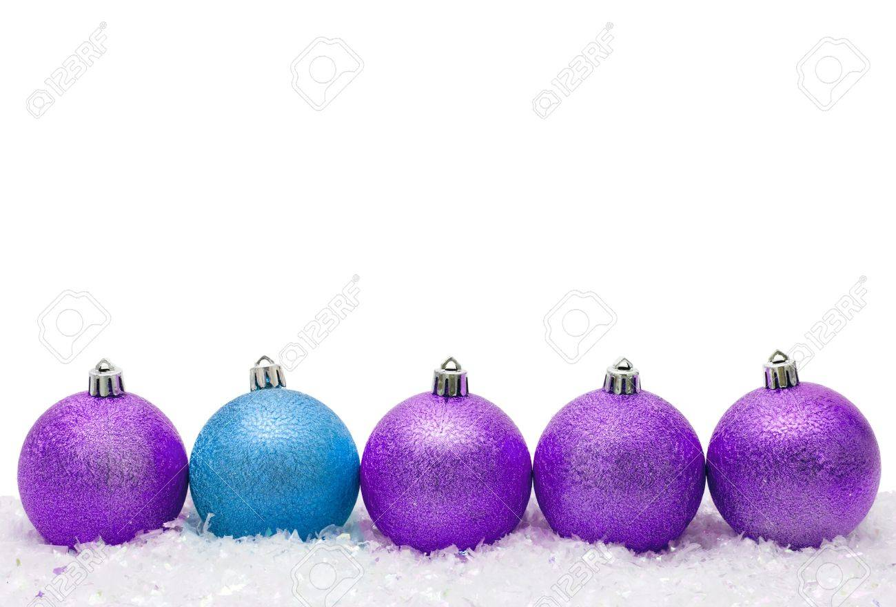Christmas ornaments in the snow, Merry Christmas Stock Photo - 7734737