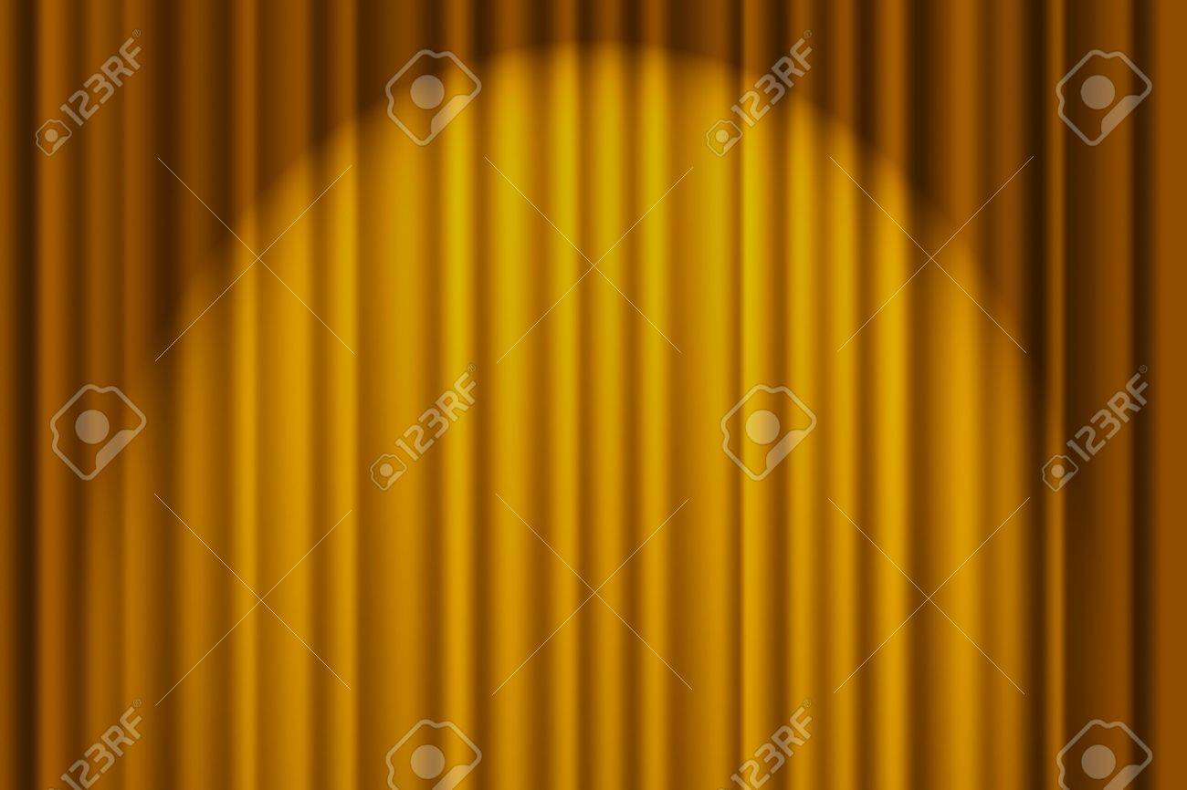 Gold stage curtain - A Gold Textured Background Stage Curtain Stock Photo 9514304