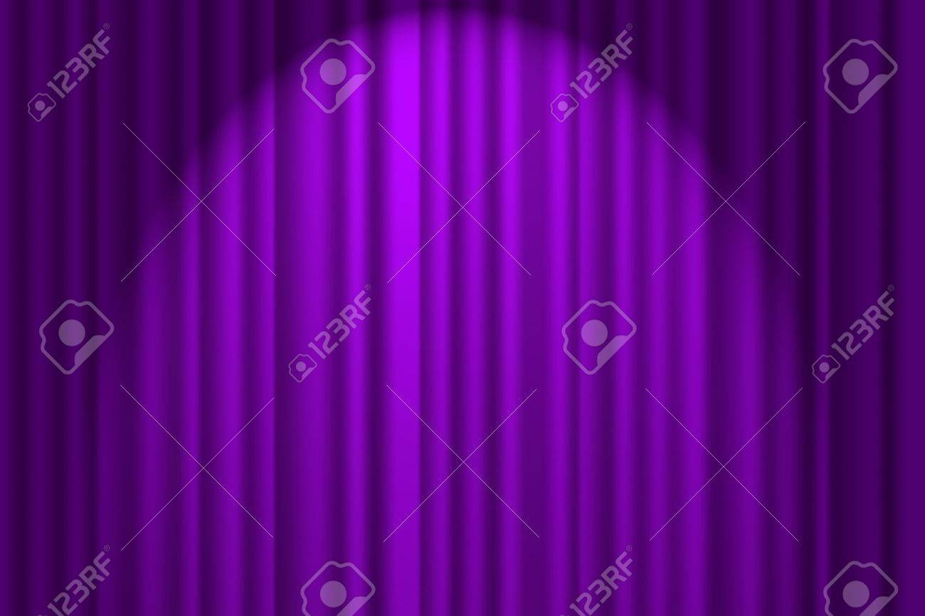 A purple textured background, stage curtain Stock Photo - 9579871