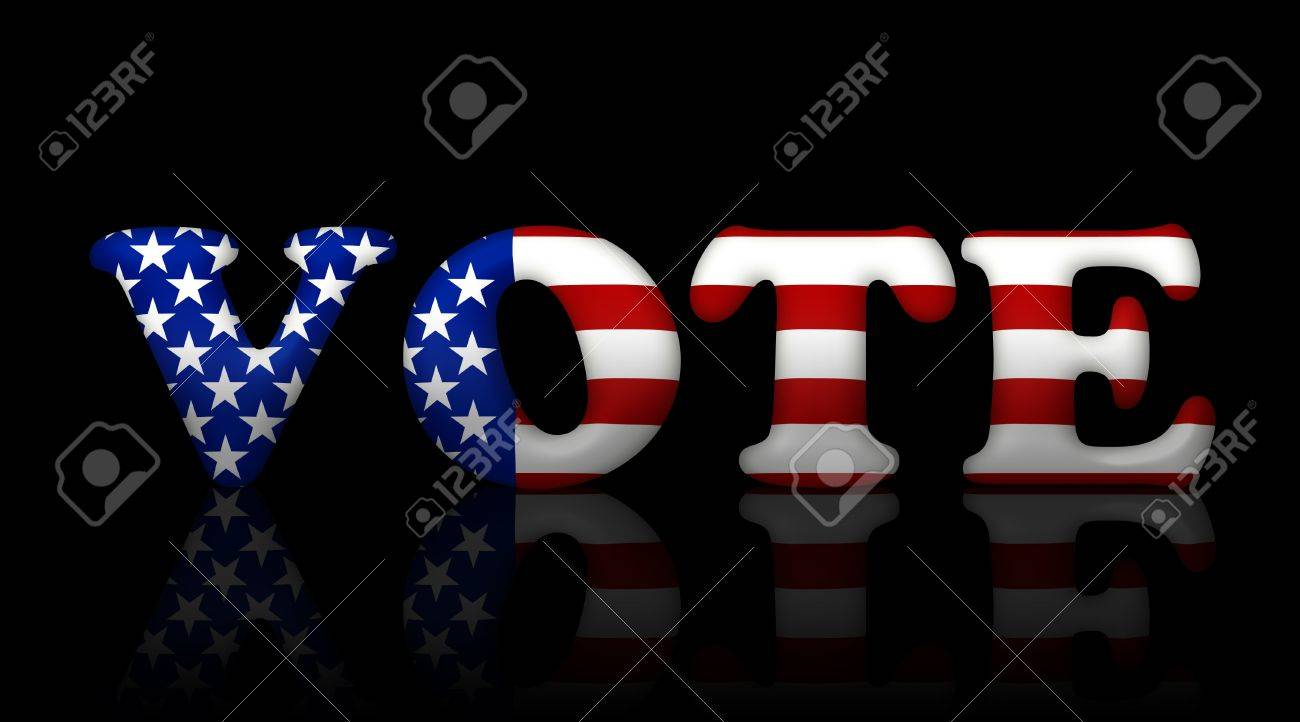 The word vote in the American flag colors, American elections Stock Photo - 10927144