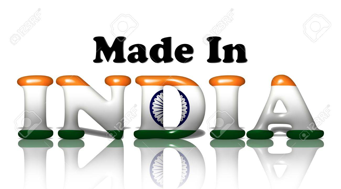 The Words Made In The India In The Indian Flag Colors Isolated Stock Photo Picture And Royalty Free Image Image 13879798