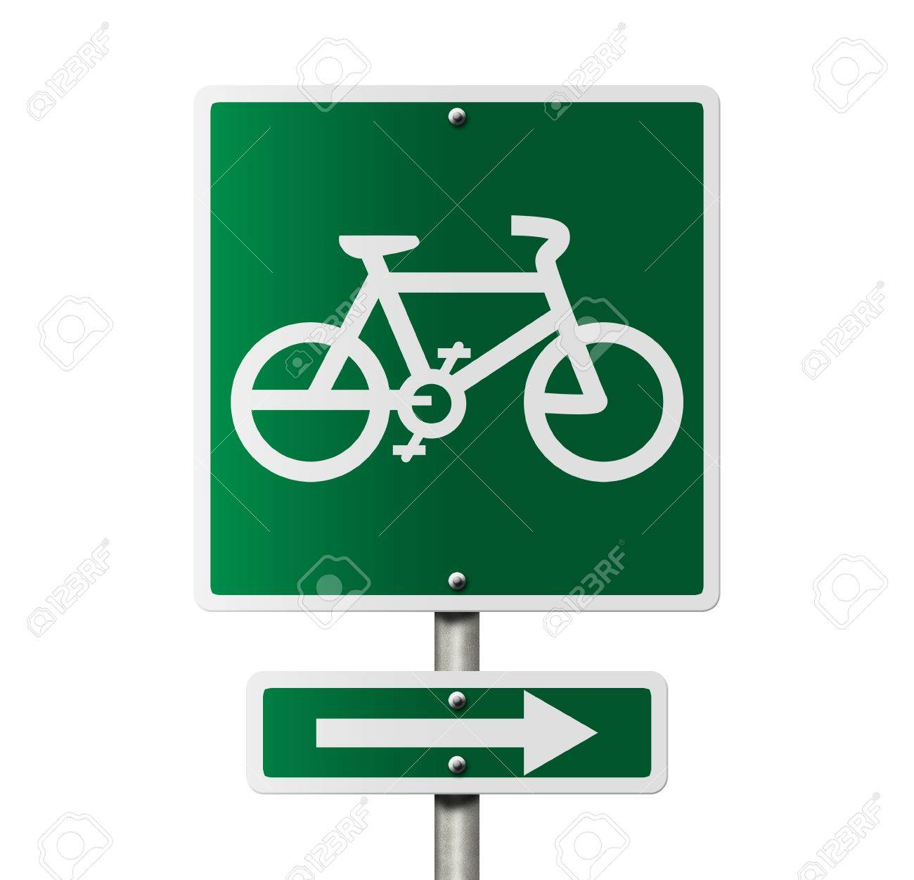An american road sign with a bike symbol isolated on white bike an american road sign with a bike symbol isolated on white bike route this way biocorpaavc