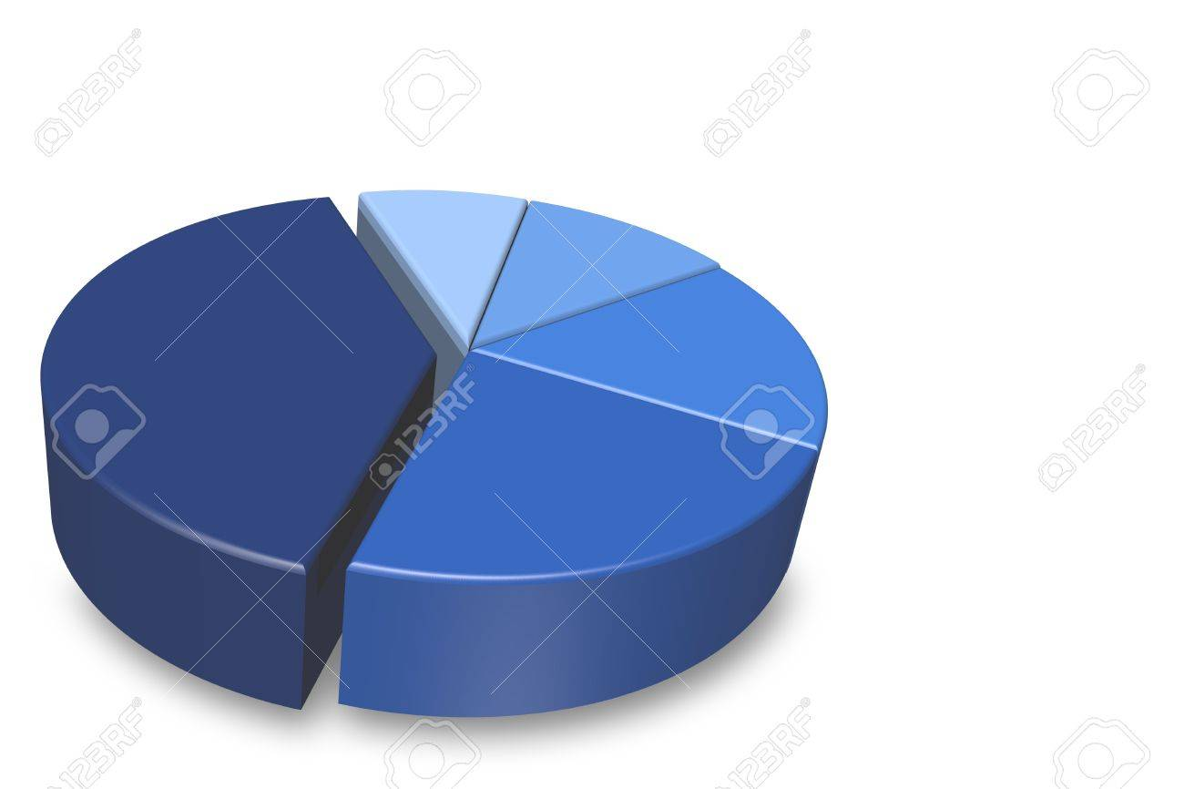 Blank blue shaded 3d pie chart isolated on a white background blank blue shaded 3d pie chart isolated on a white background and empty for your text nvjuhfo Gallery