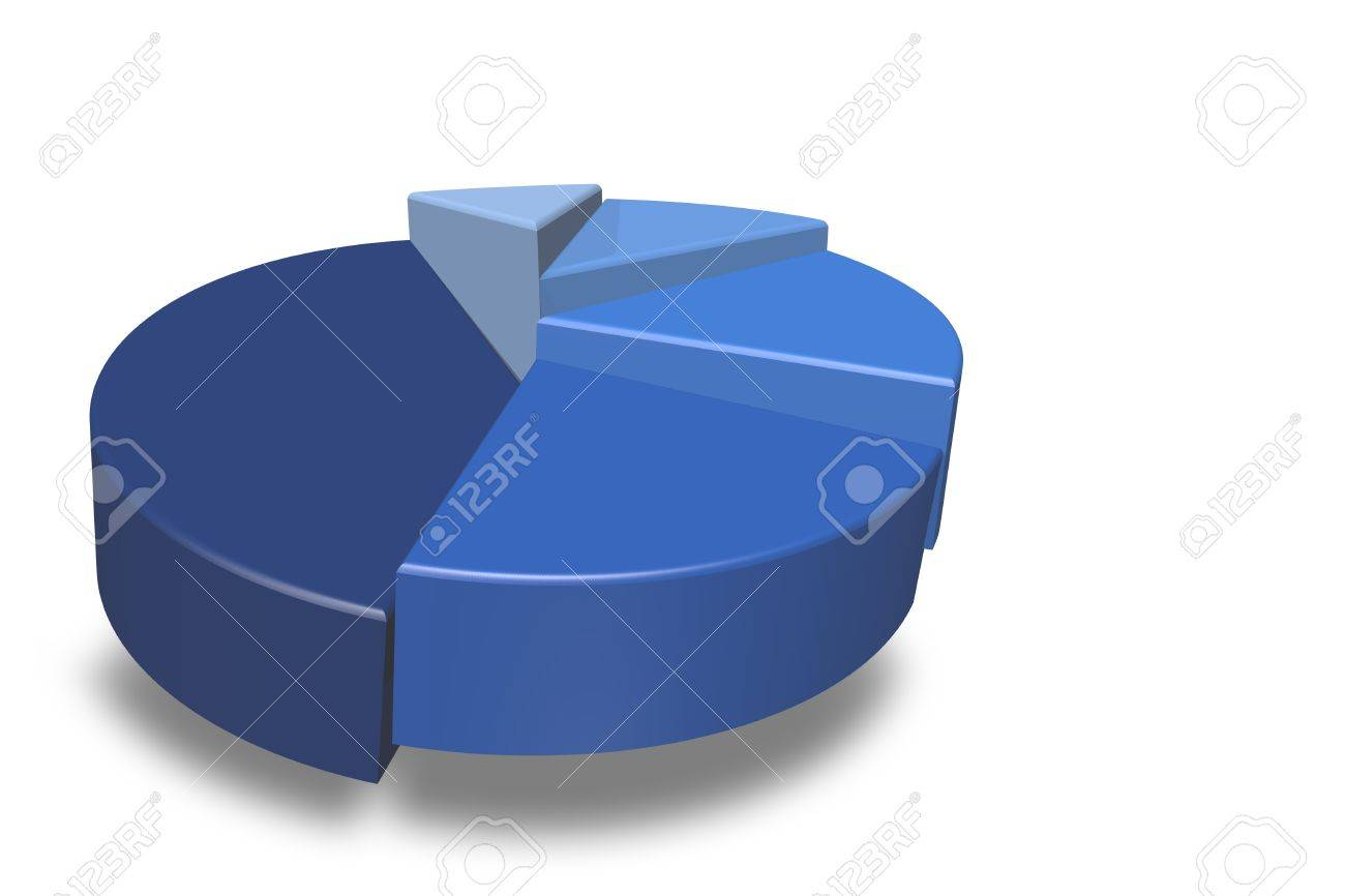 Blank blue 3d pie chart isolated on a white background and empty blank blue 3d pie chart isolated on a white background and empty for your text to nvjuhfo Gallery