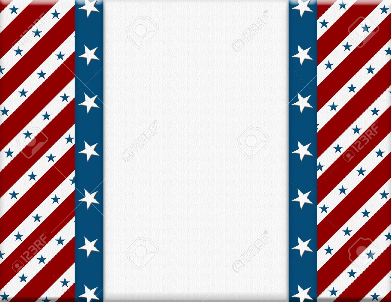 Fantastic Red And White American Celebration Frame For Your Message Or  ZV49