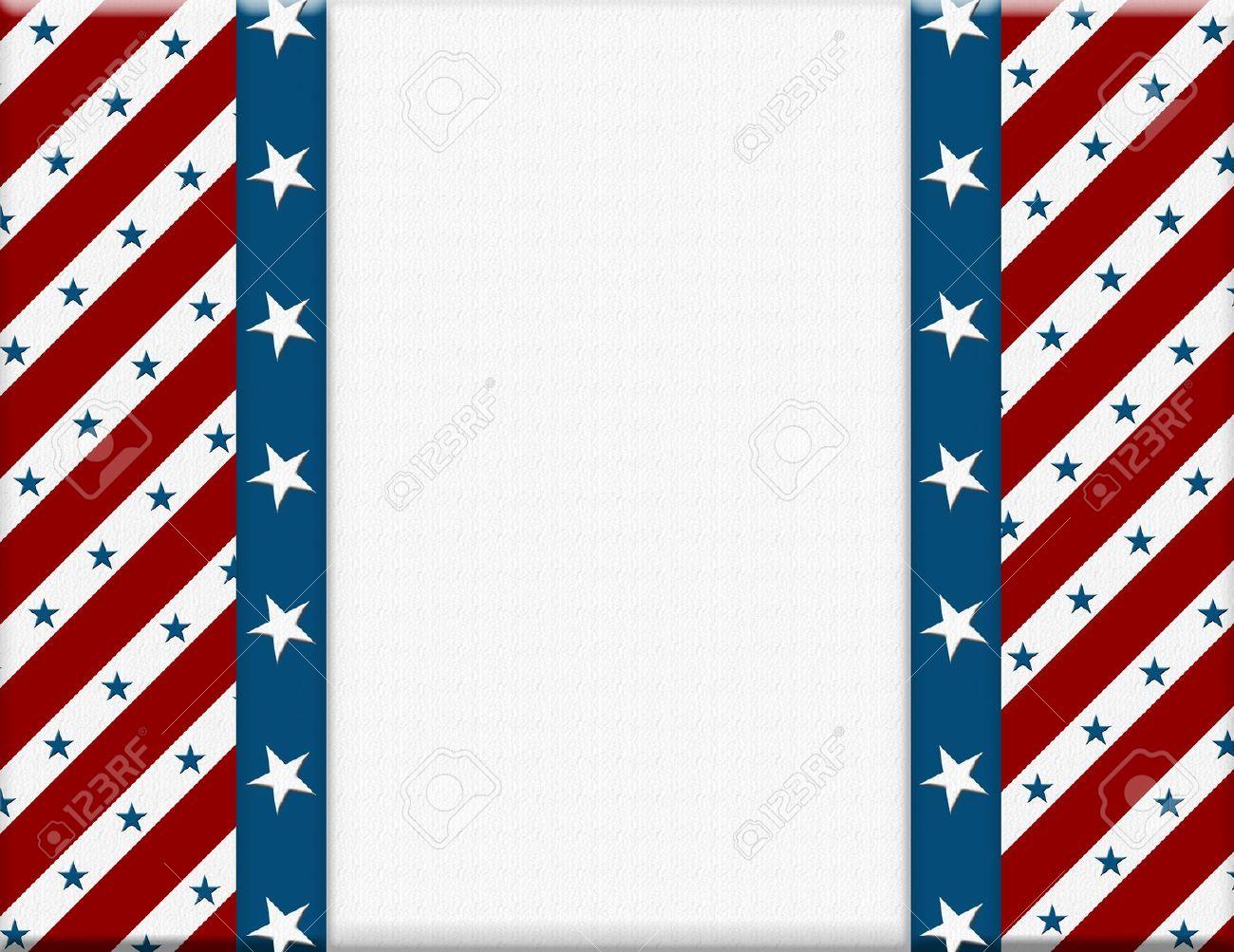 Rojo Y Marco Blanco Celebración Estadounidense Para Su Mensaje O ...
