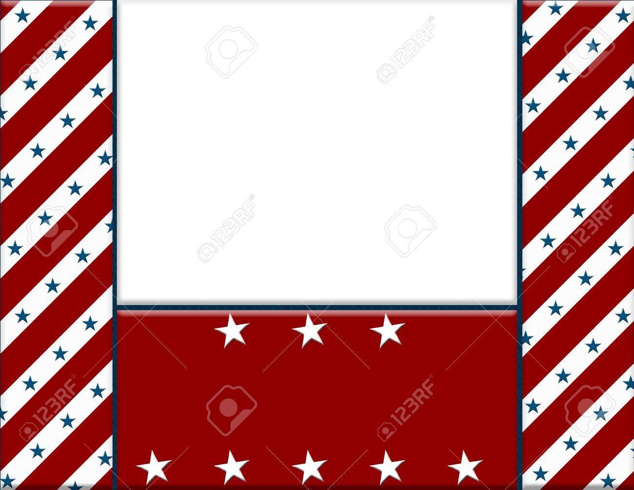 Red And White Amerikanische Feier Rahmen Für Ihre Nachricht Oder ...