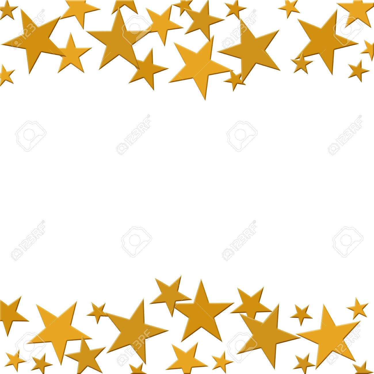 a bunch of golden stars isolated on a white background winning rh 123rf com Gold Star Border Clip Art Gold Star Award Clip Art
