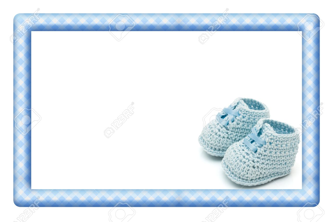 Blue And White Baby Frame For Your Message Or Invitation With ...
