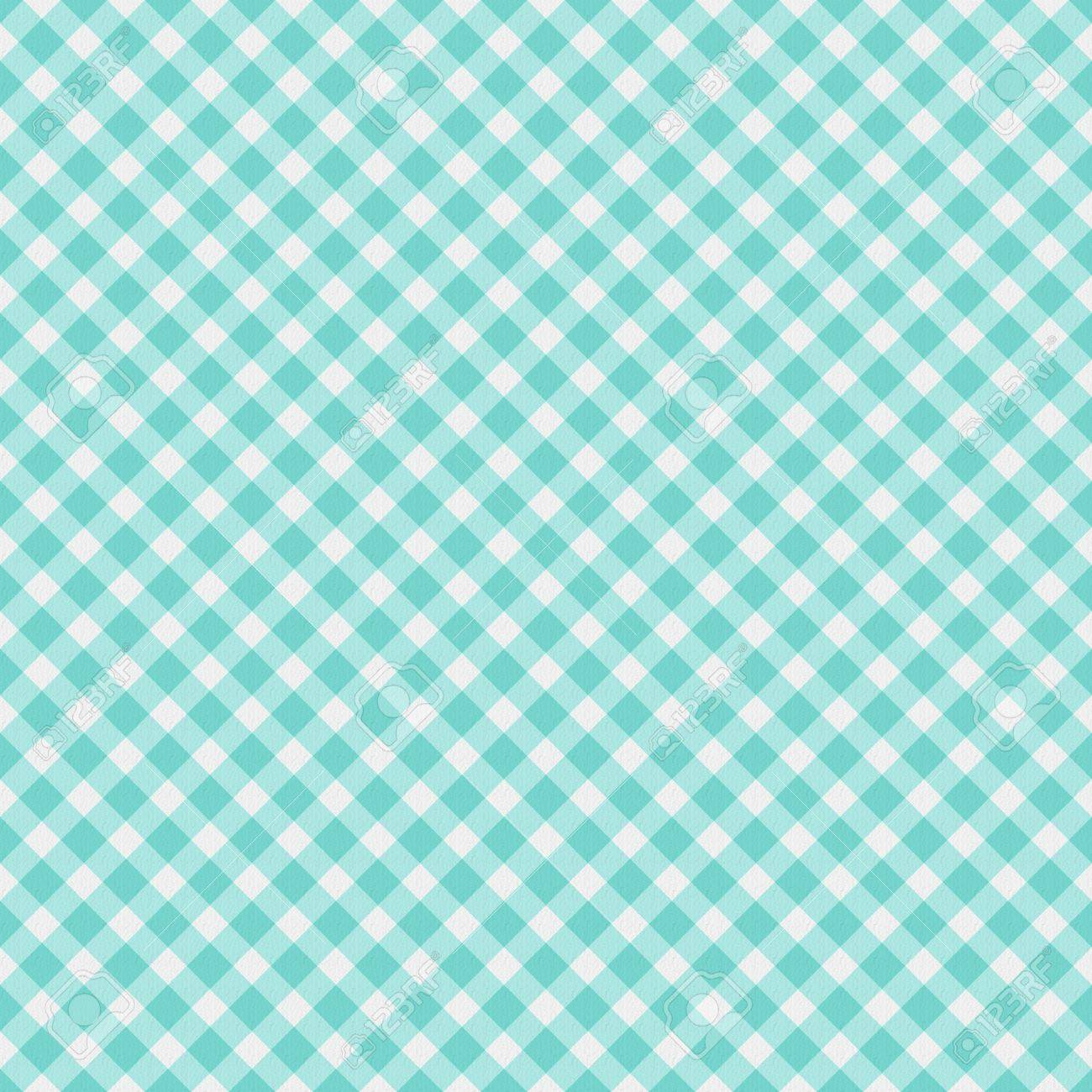 A Light Aqua Blue Gingham Fabric Background That Is Seamless Stock Photo Picture And Royalty Free Image Image 18117660