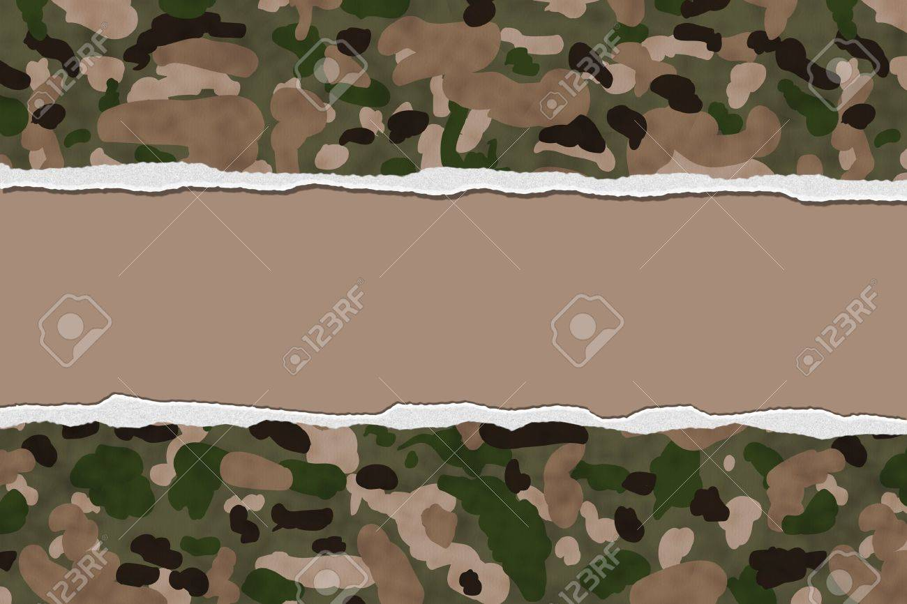camouflage torn background for your message or invitation with