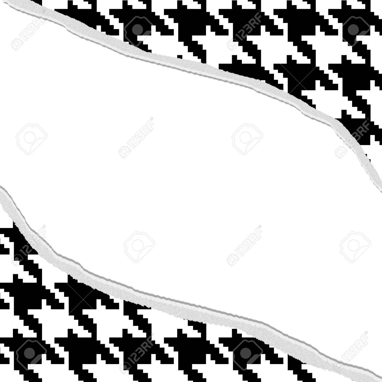 houndstooth torn background for your message or invitation with