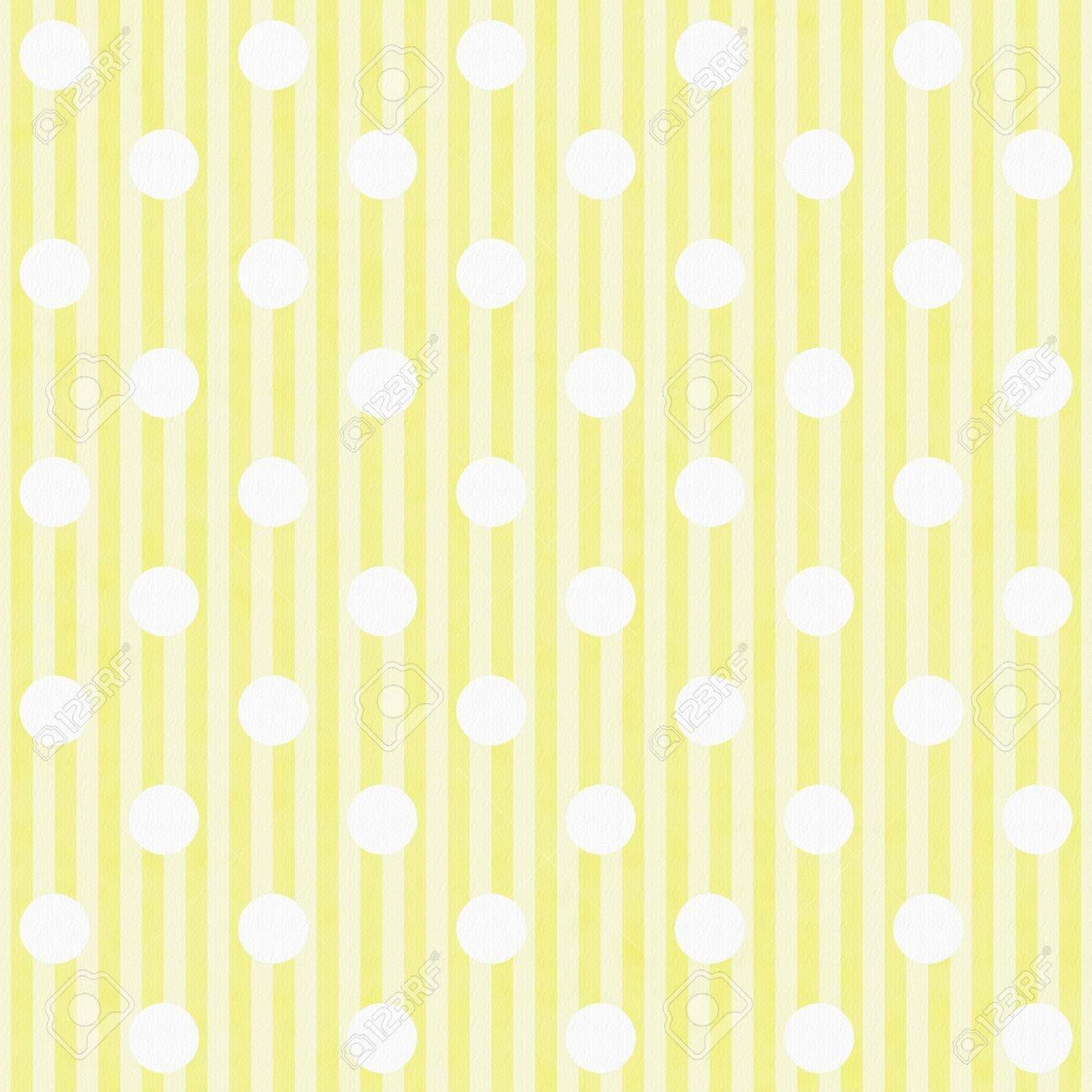 Immagini Stock Giallo E Bianco A Pois E Strisce Di Tessuto Sfondo