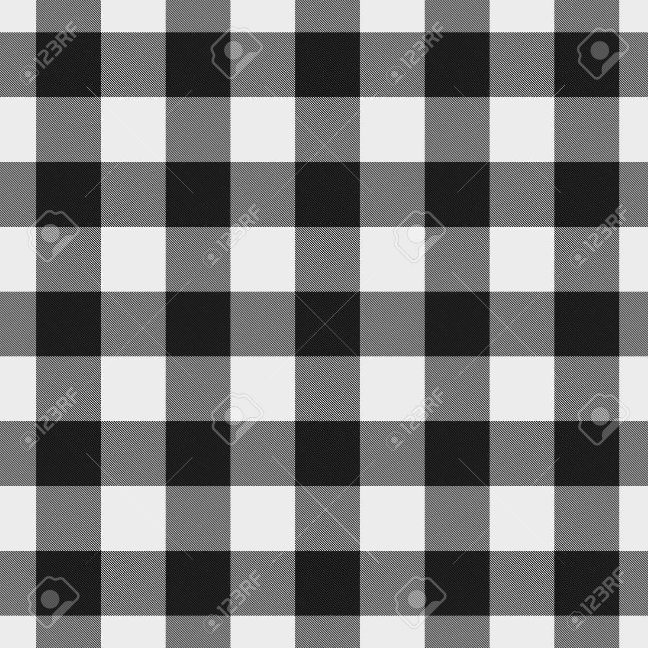 White And Black Plaid Fabric Background That Is Seamless And Stock
