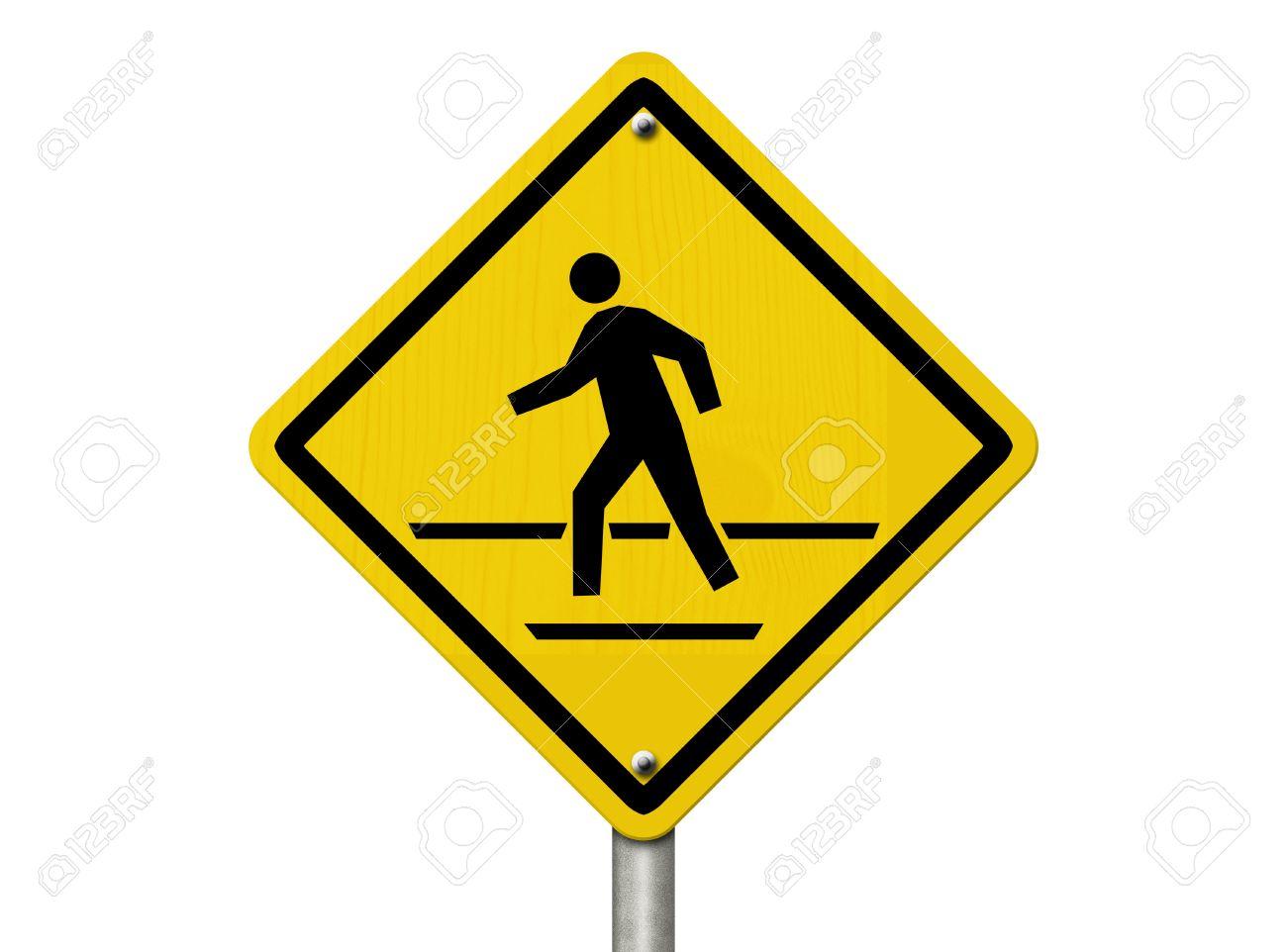 Warning Road Sign An American road warning sign