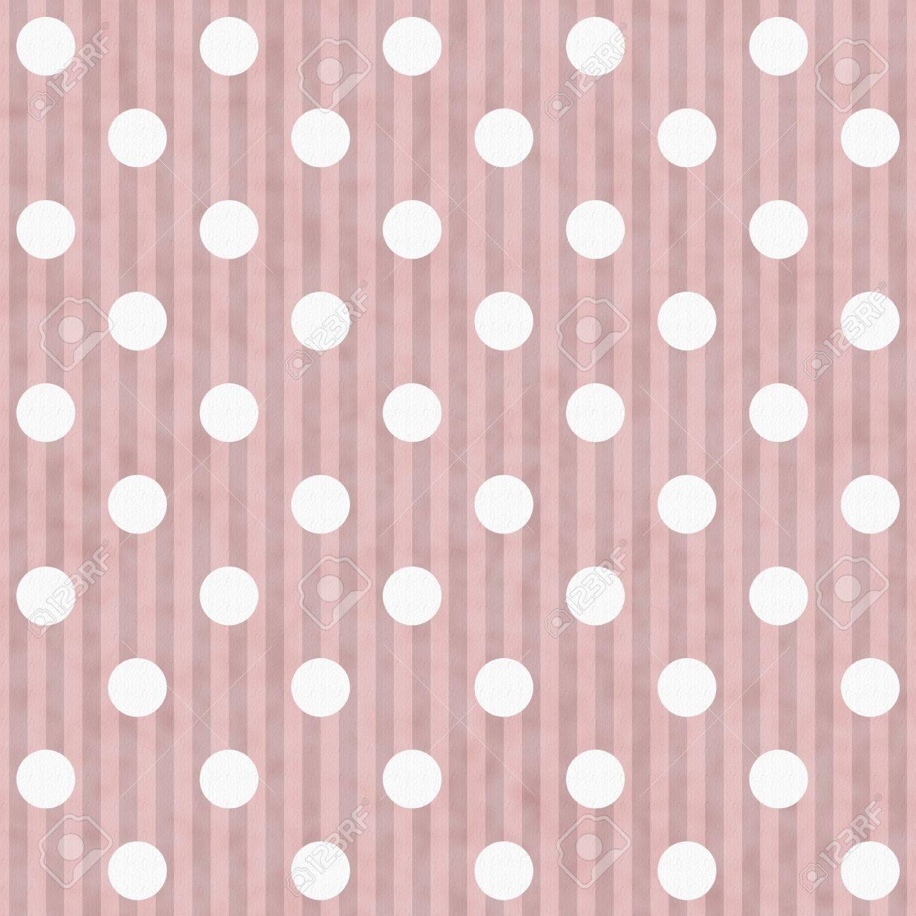 Immagini Stock Rosa E Bianco A Pois E Strisce Di Tessuto Sfondo
