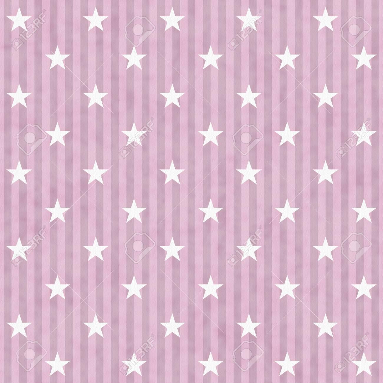 Immagini Stock Rosa E Bianco A Stelle E Strisce Sfondo Tessuto Che