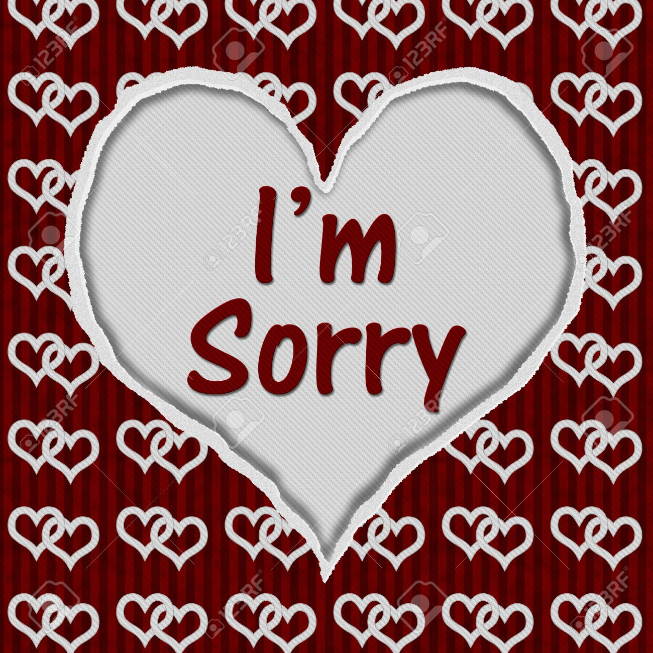 Red and white connected hearts torn heart with text im sorry red and white connected hearts torn heart with text im sorry i altavistaventures Choice Image