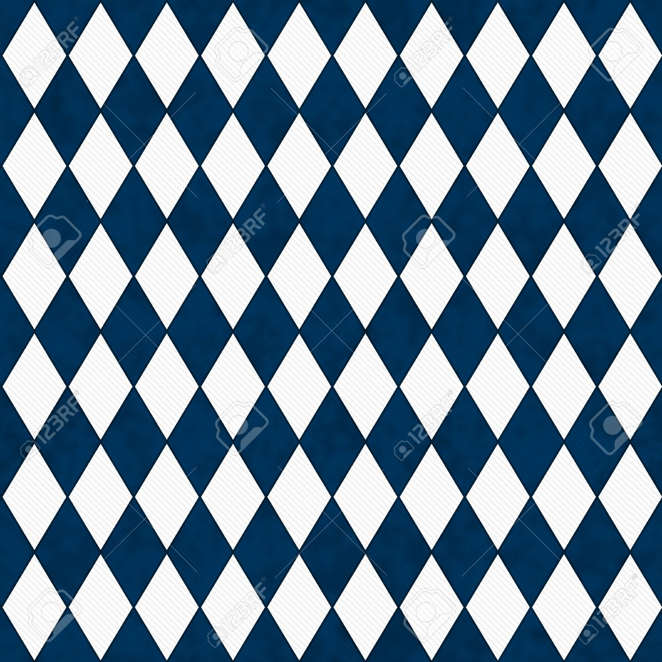 Navy Blue And White Diamond Shape Fabric Background That Is ...
