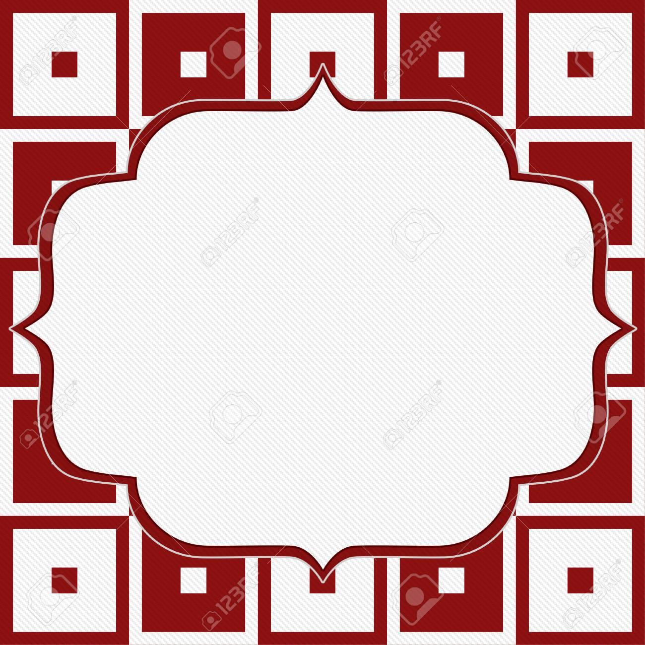 Rouge Et Blanc Tapisserie Carre Tissu Fond Avec Copie De L Espace
