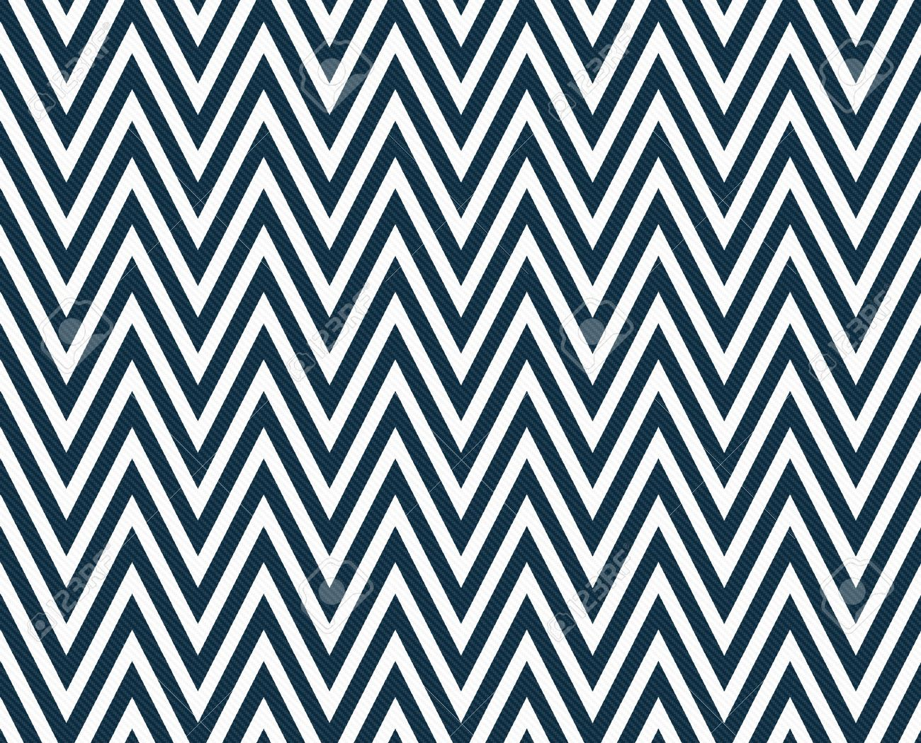 Beautiful Royal Blue And White Chevron Fabric Contemporary ...