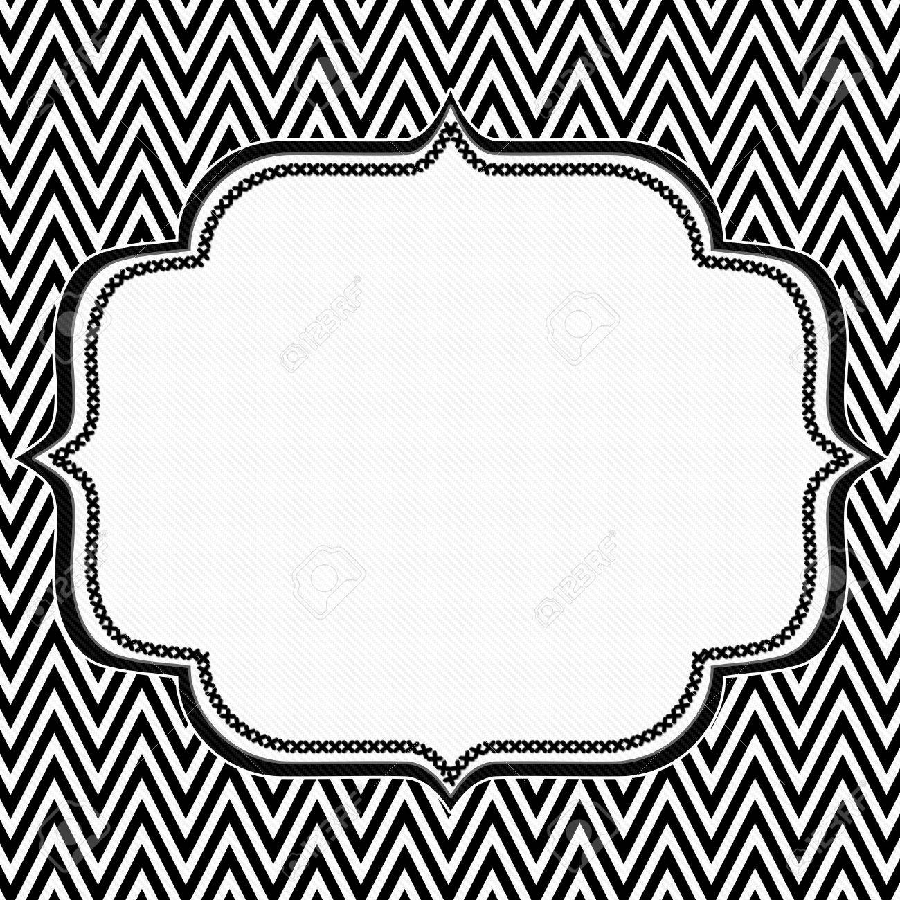 Black And White Chevron Frame With Embroidery Background With Stock Photo Picture And Royalty Free Image Image 25179237