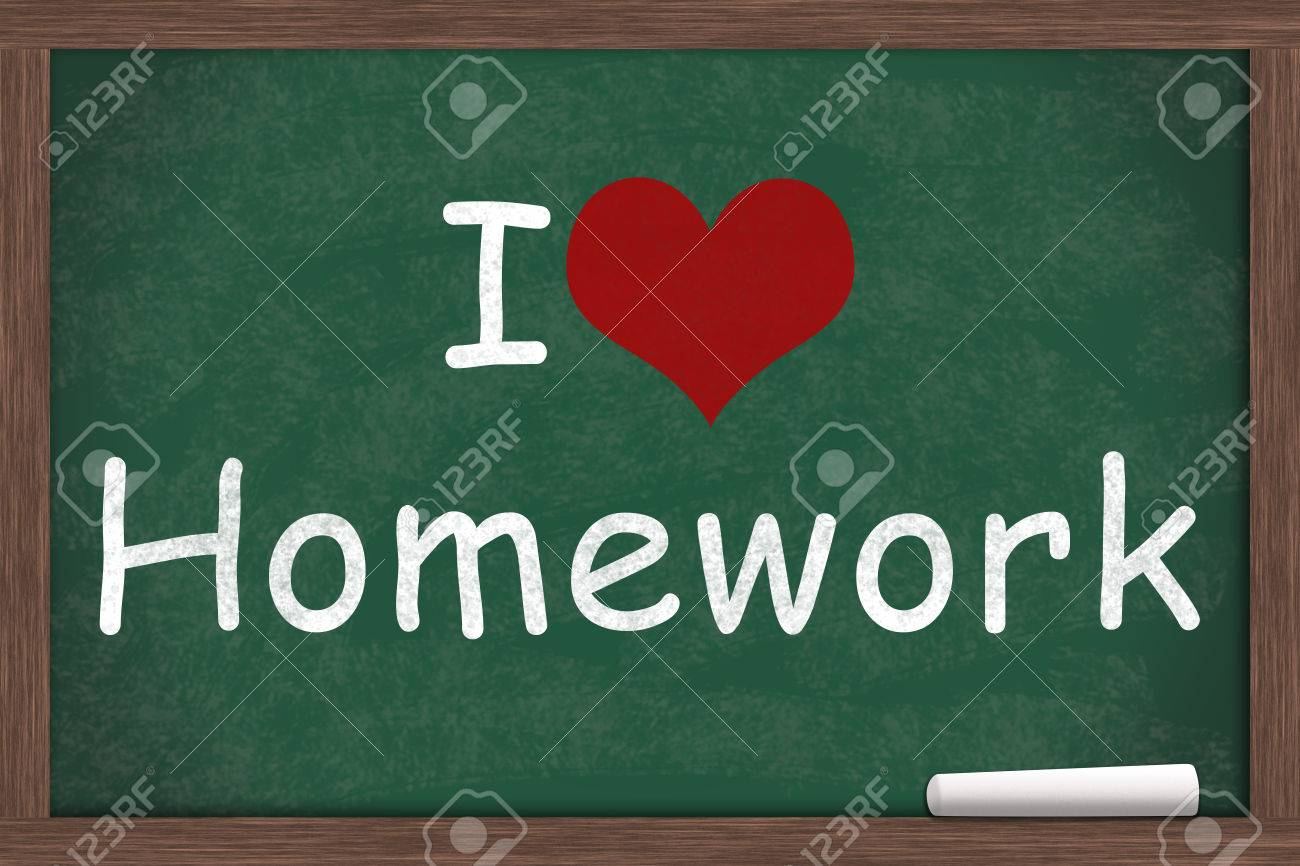 Research Paper Topics Love  I Love Homework I Heart Homework Written On A Chalkboard With A Piece Of White Chalk Stock Photo Index?dissertationcatidsiteid