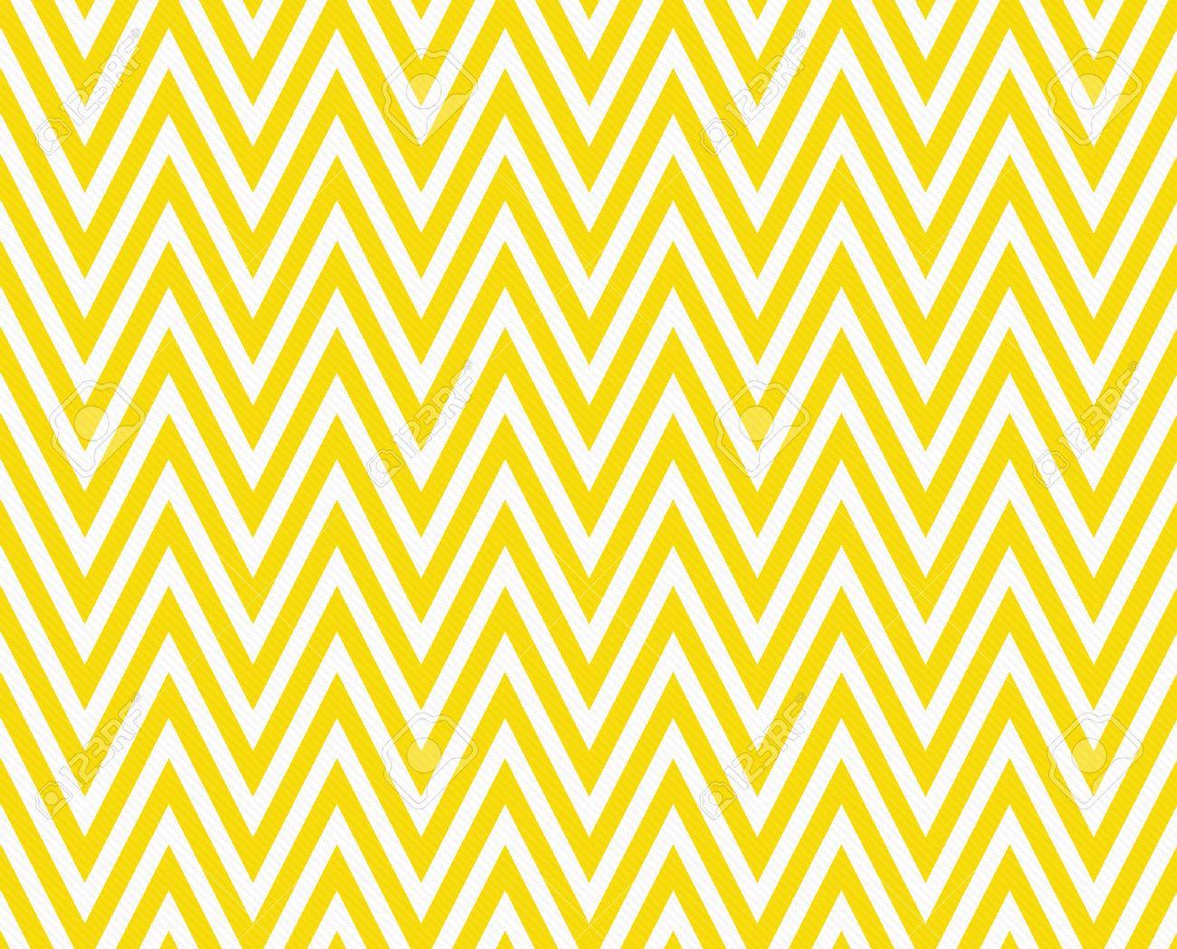 Thin Bright Yellow And White Horizontal Chevron Striped Textured ...