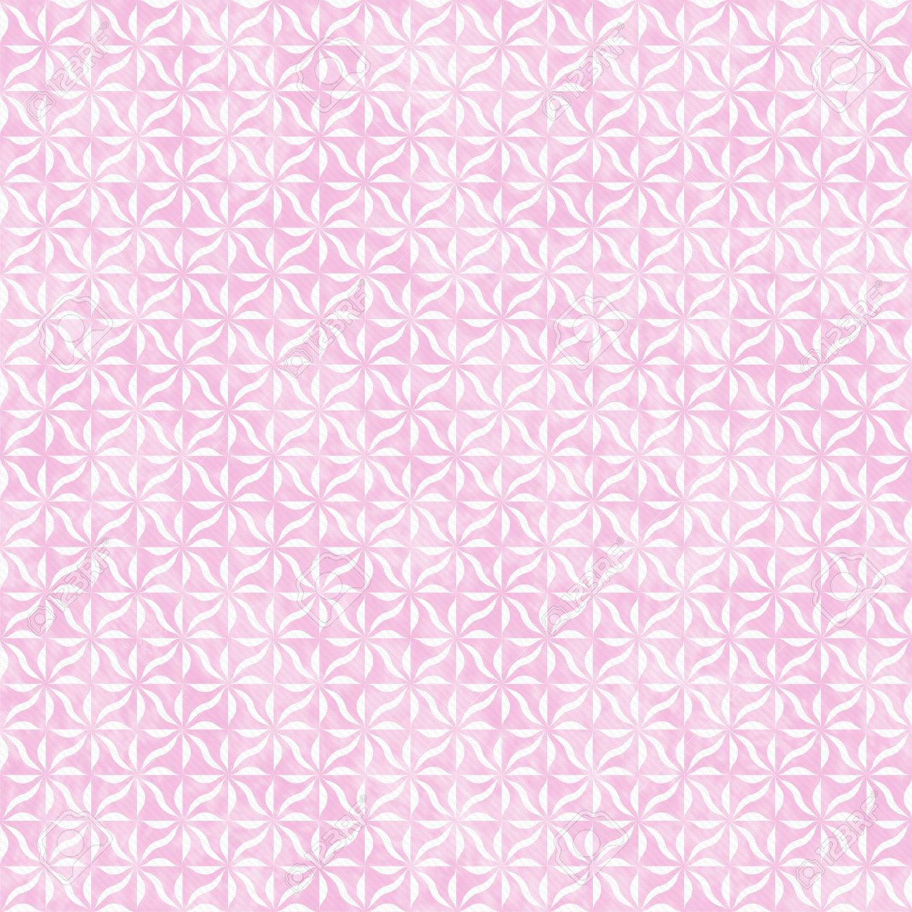 pink and white decorative swirl design textured fabric background