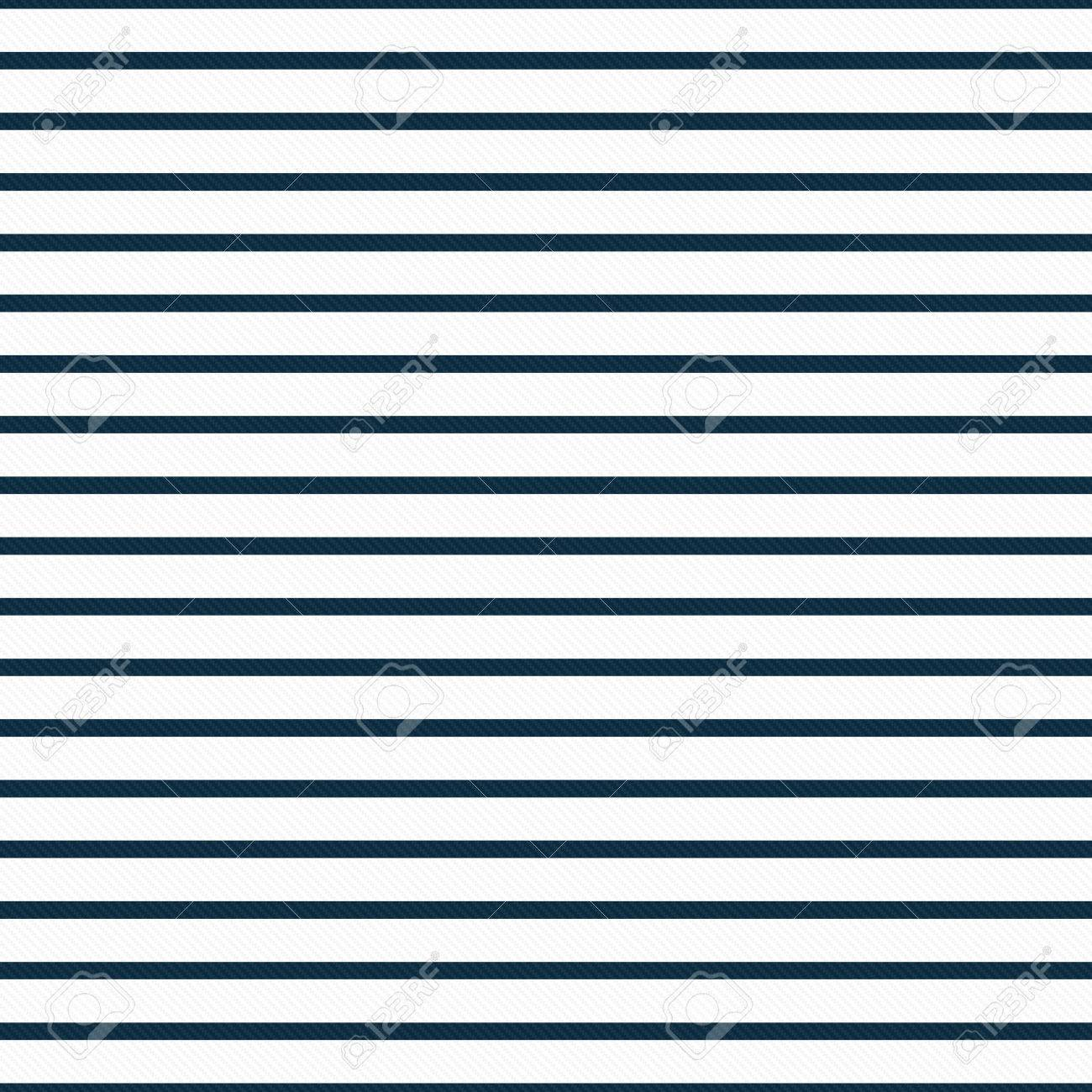 b25a75a58bf Stock Photo - Thin Navy Blue and White Horizontal Striped Textured Fabric  Background that is seamless and repeats