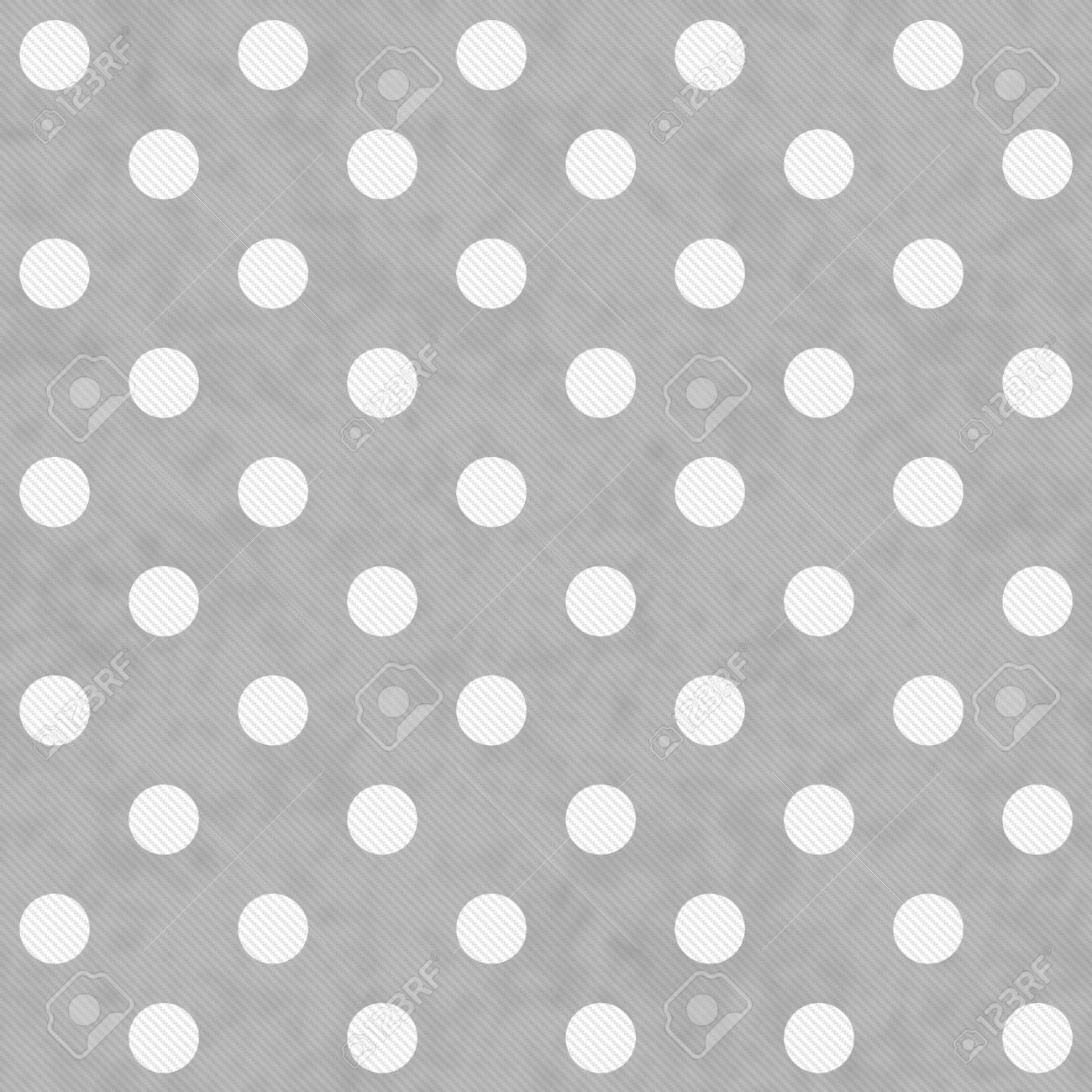 Graue Und Weiße Hintergrund Große Tupfen-Muster Wiederholen, Die ...