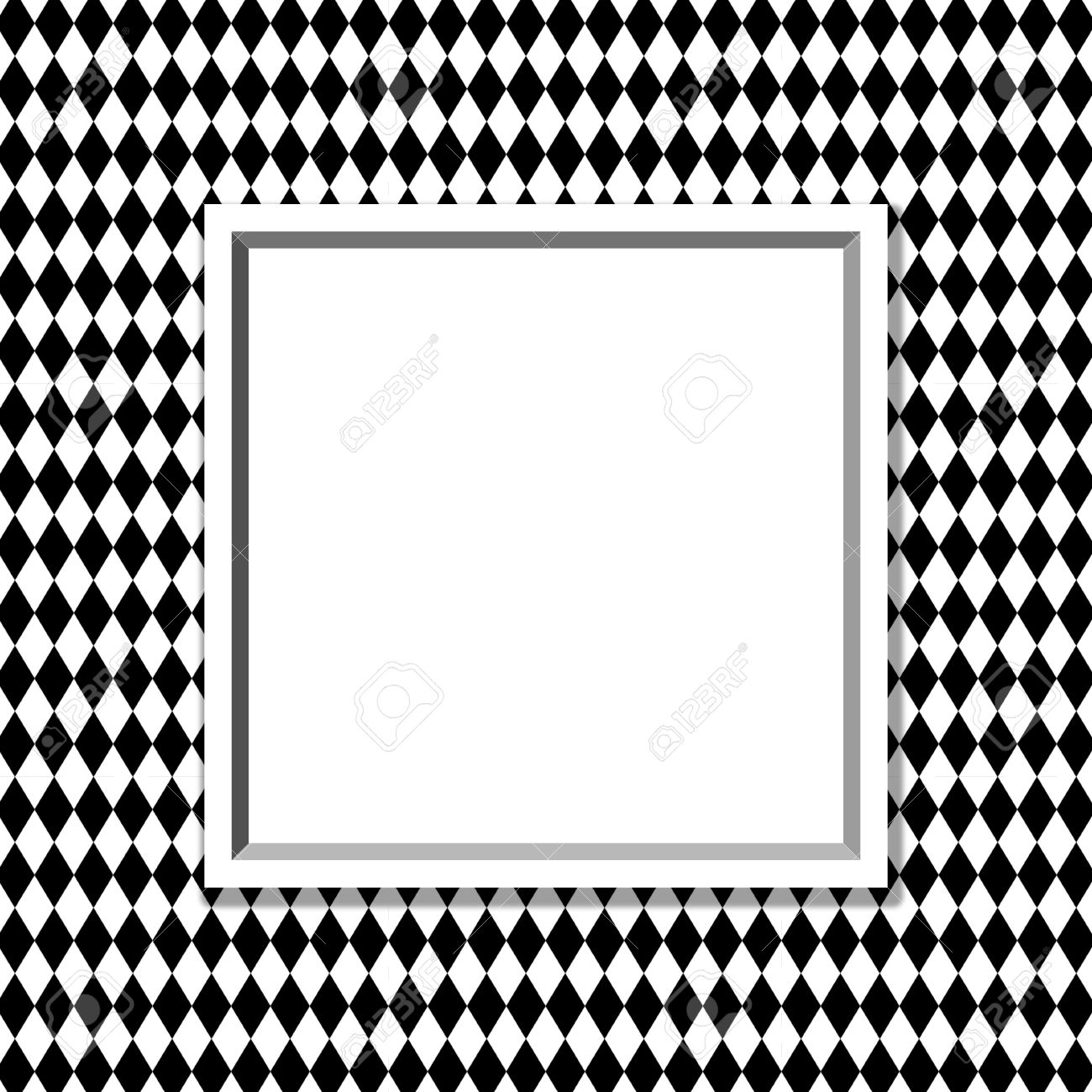 Black And White Diamond Background With Frame With Center For ...