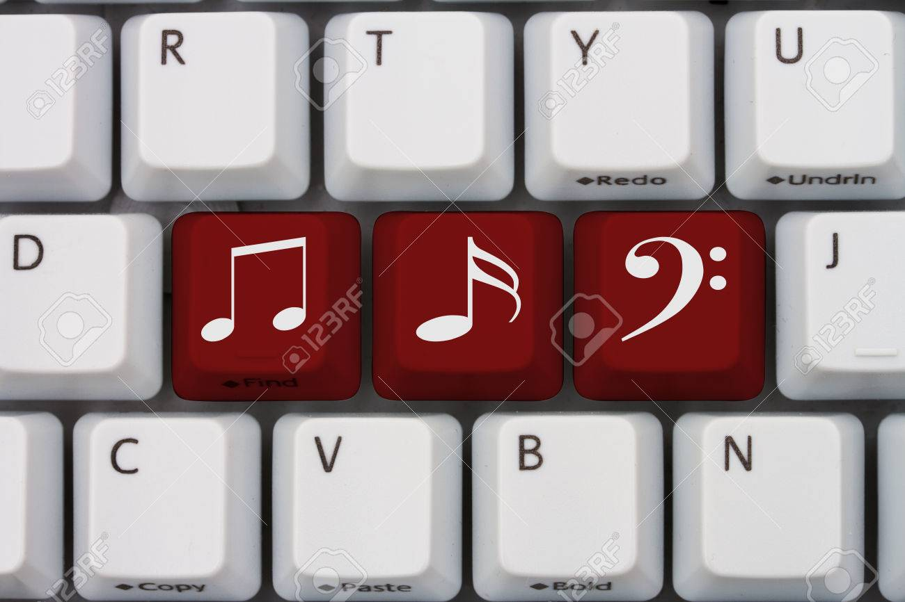Getting Your Music Online A Gray Computer Keyboard With Music