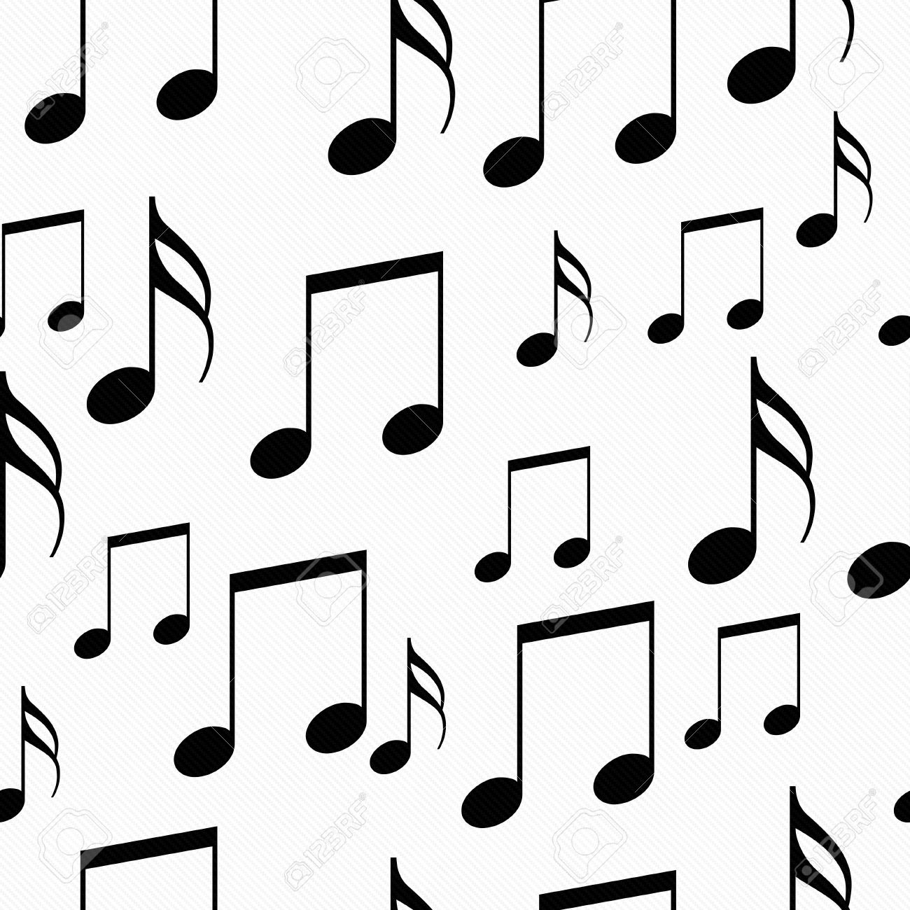 Immagini Stock In Bianco E Nero Note Di Musica Del Reticolo Delle