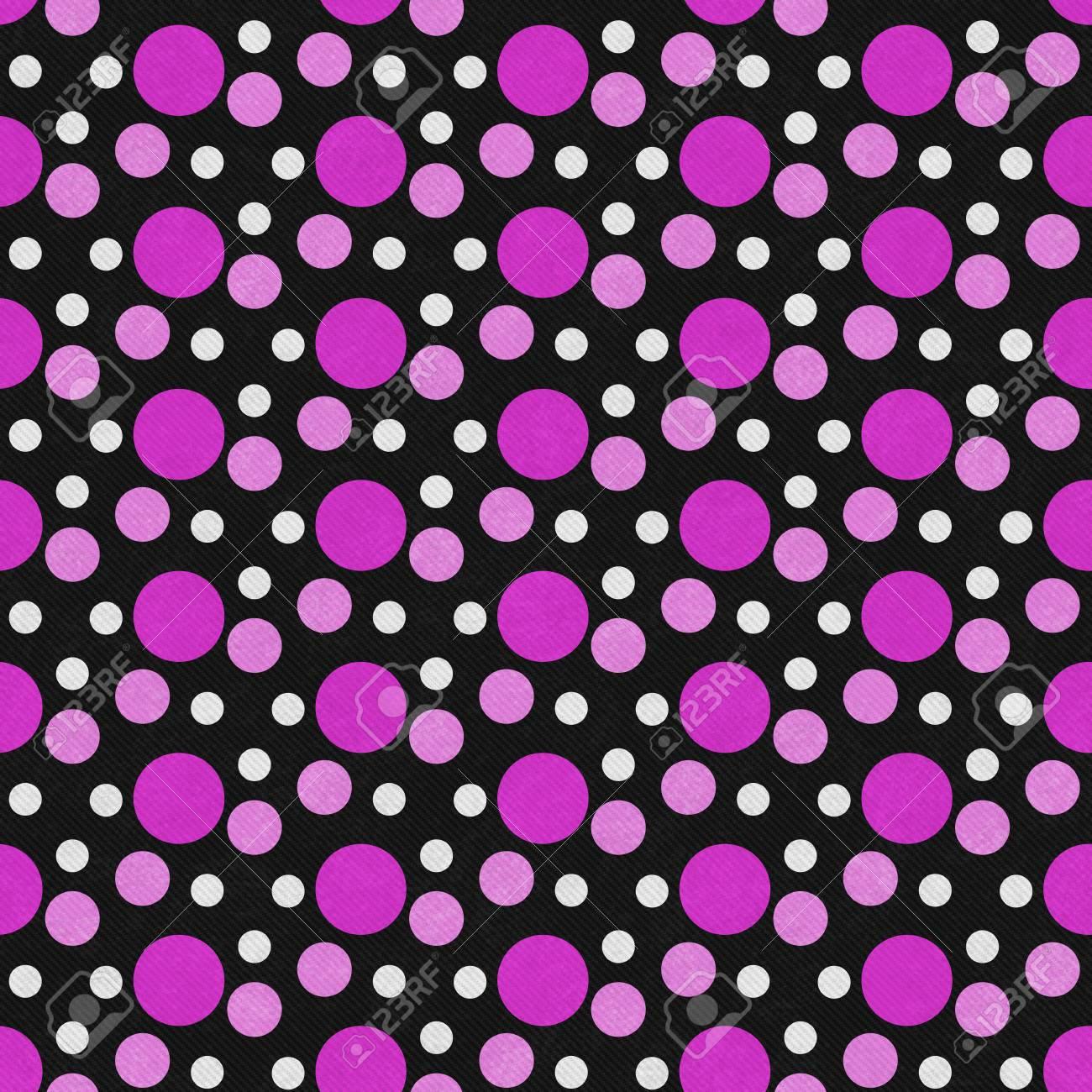 Immagini Stock Rosa Bianco E Nero A Pois Del Reticolo Delle