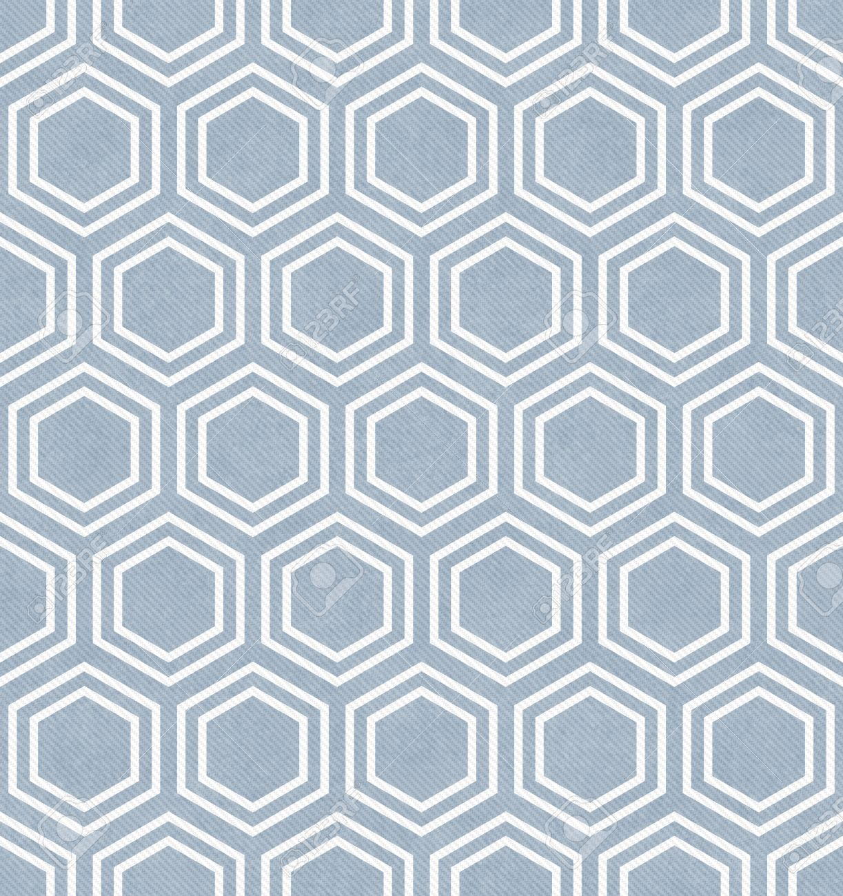 Blue And White Hexagon Tile Pattern Repeat Background Stock Photo ...