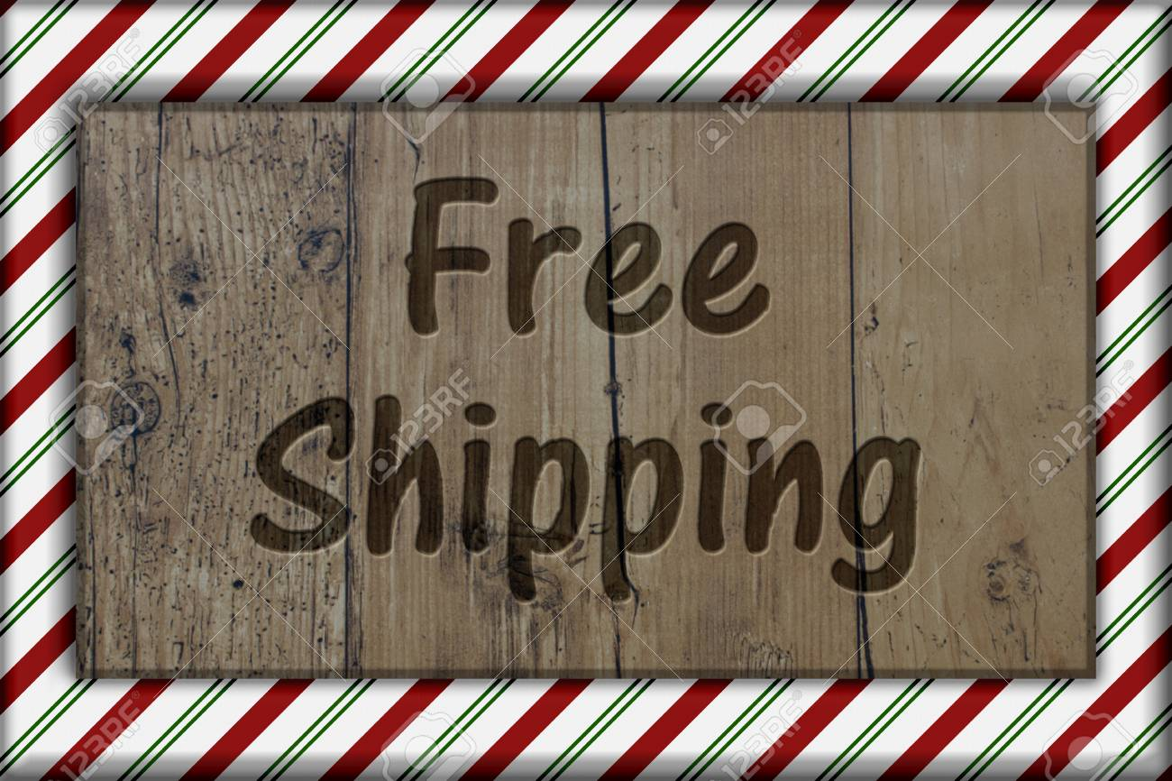 Feiertags-Zeit-freies Verschiffen, Zuckerstange-gestreifter Rahmen ...