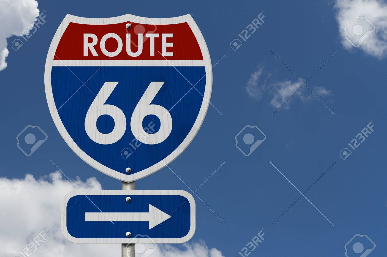 Road Trip USA Red White And Blue American Route  Highway - Road trip route 66 usa