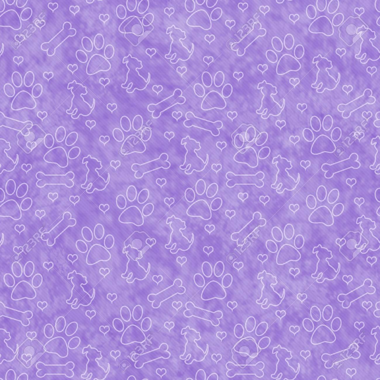 Paw Print repitiendo patrón de la plantilla