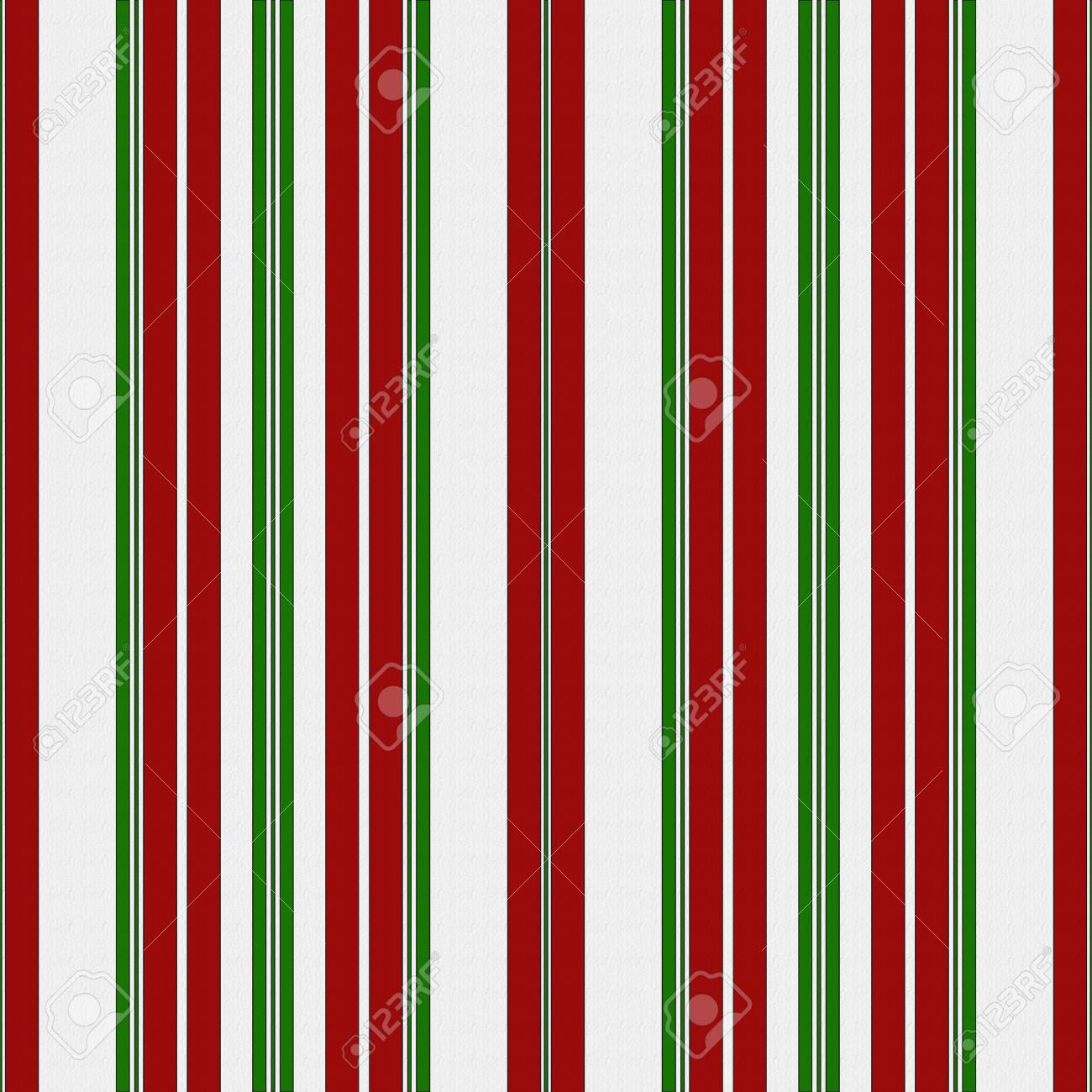 Red Green And White Striped Fabric Background Stock Photo Picture