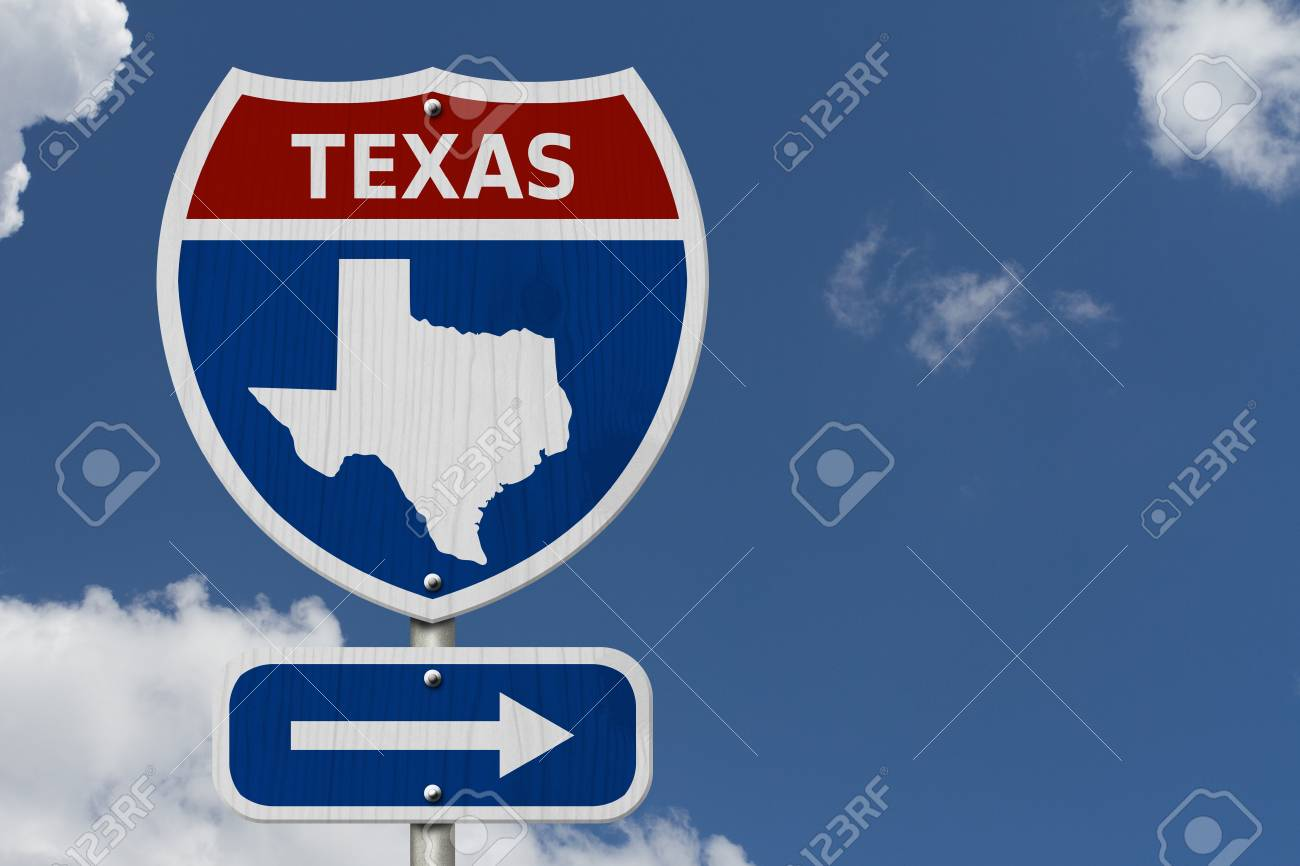 Road trip to Texas, Red, white and blue interstate highway road.. Texas Road Map Travel on texas information, texas government, texas hotels, texas address, texas movies, texas area codes, texas restaurant, texas time, texas currency, texas alaska, texas driving directions, texas bucket list, texas maps online, texas photography, texas history, texass map, texas projects, texas food, el paso map, texas home,