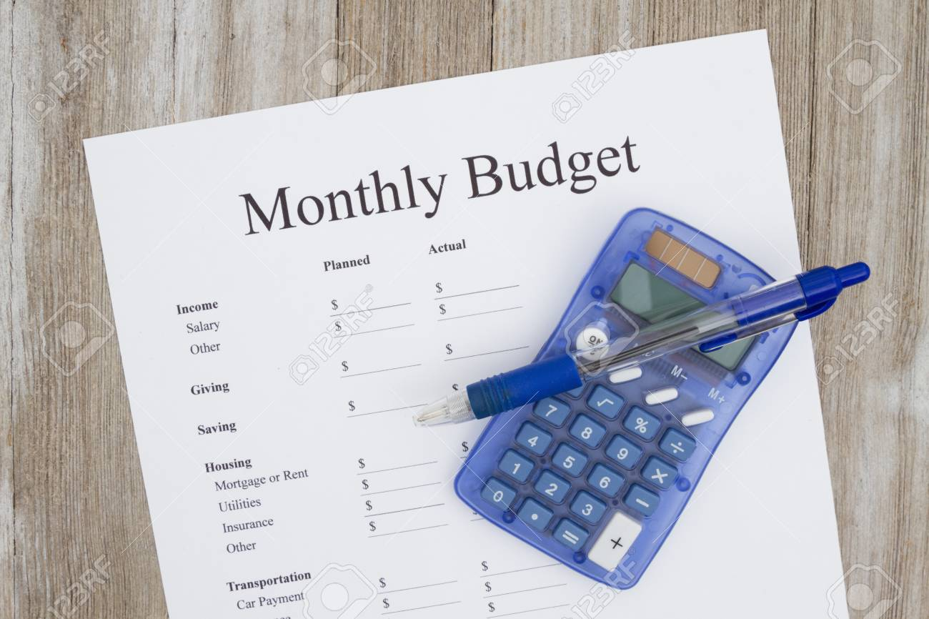 creating a monthly budget a print out of a monthly budget with