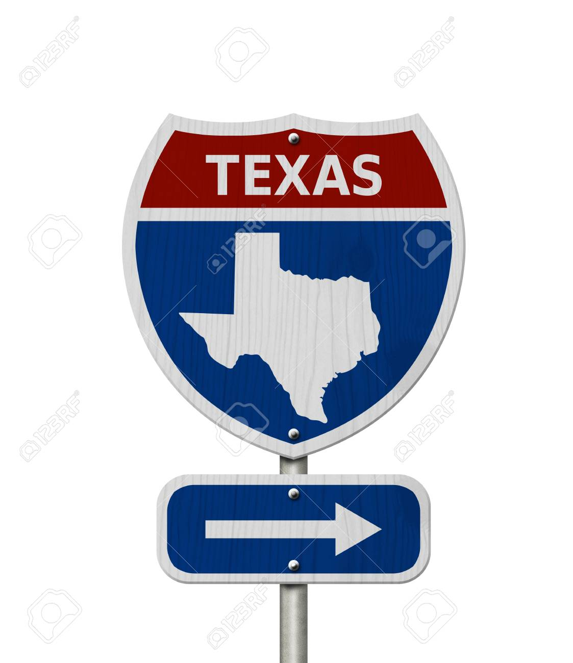 Map Of Texas Highways And Interstates.Road Trip To Texas Red White And Blue Interstate Highway Road