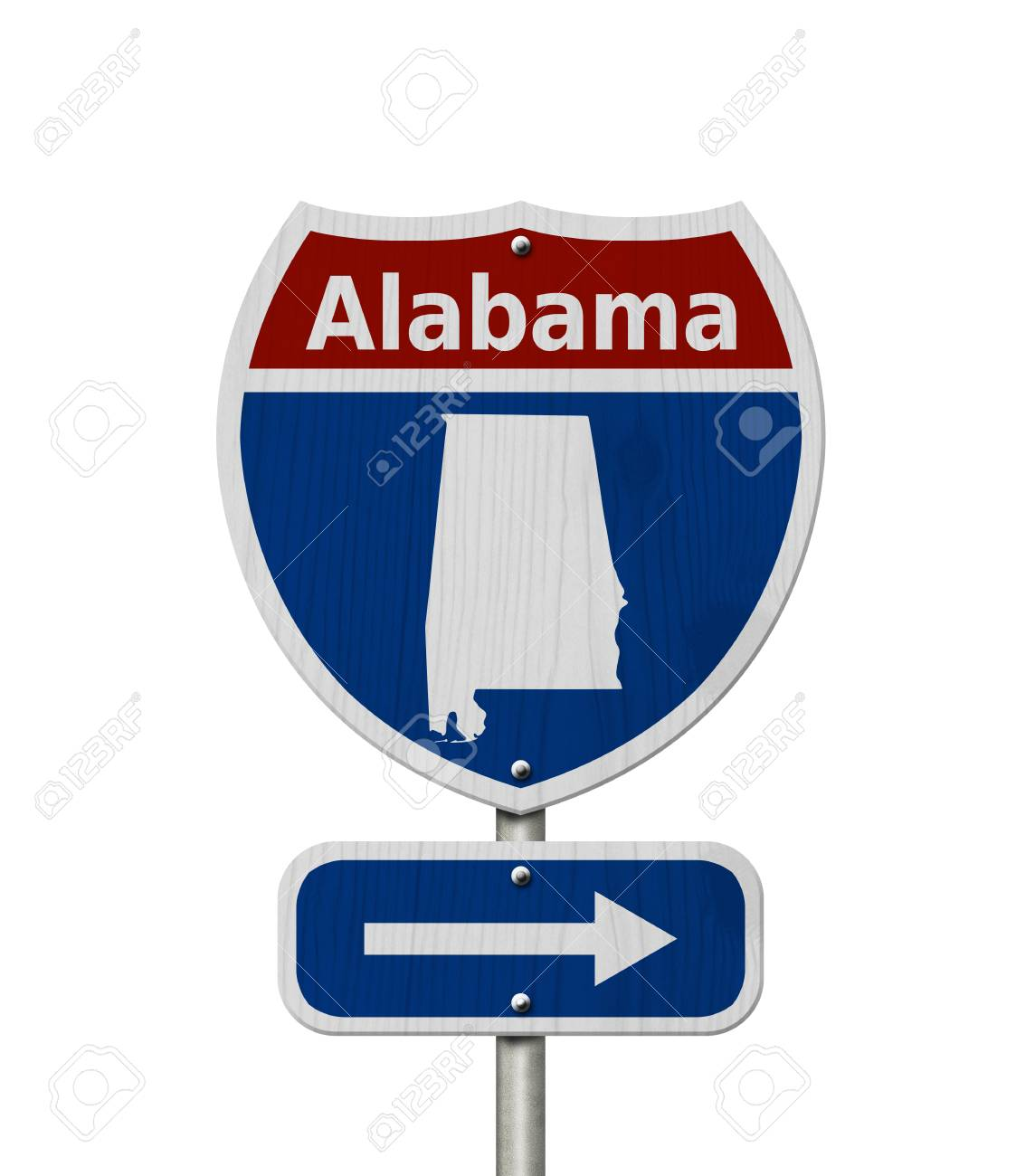 Road Trip To Alabama Red White And Blue Interstate Highway